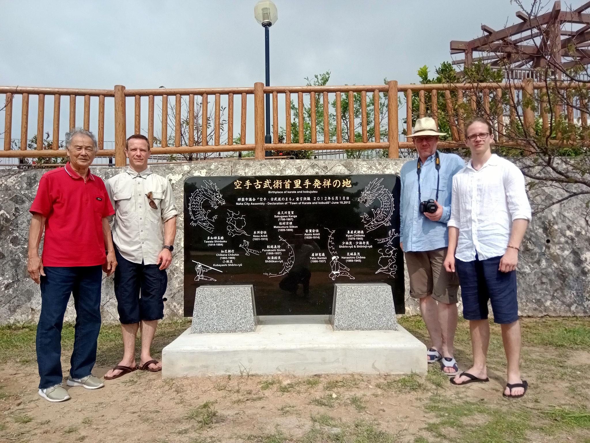 Karate Geschichtstour – Monument der Okinawastile und ihre Gründer