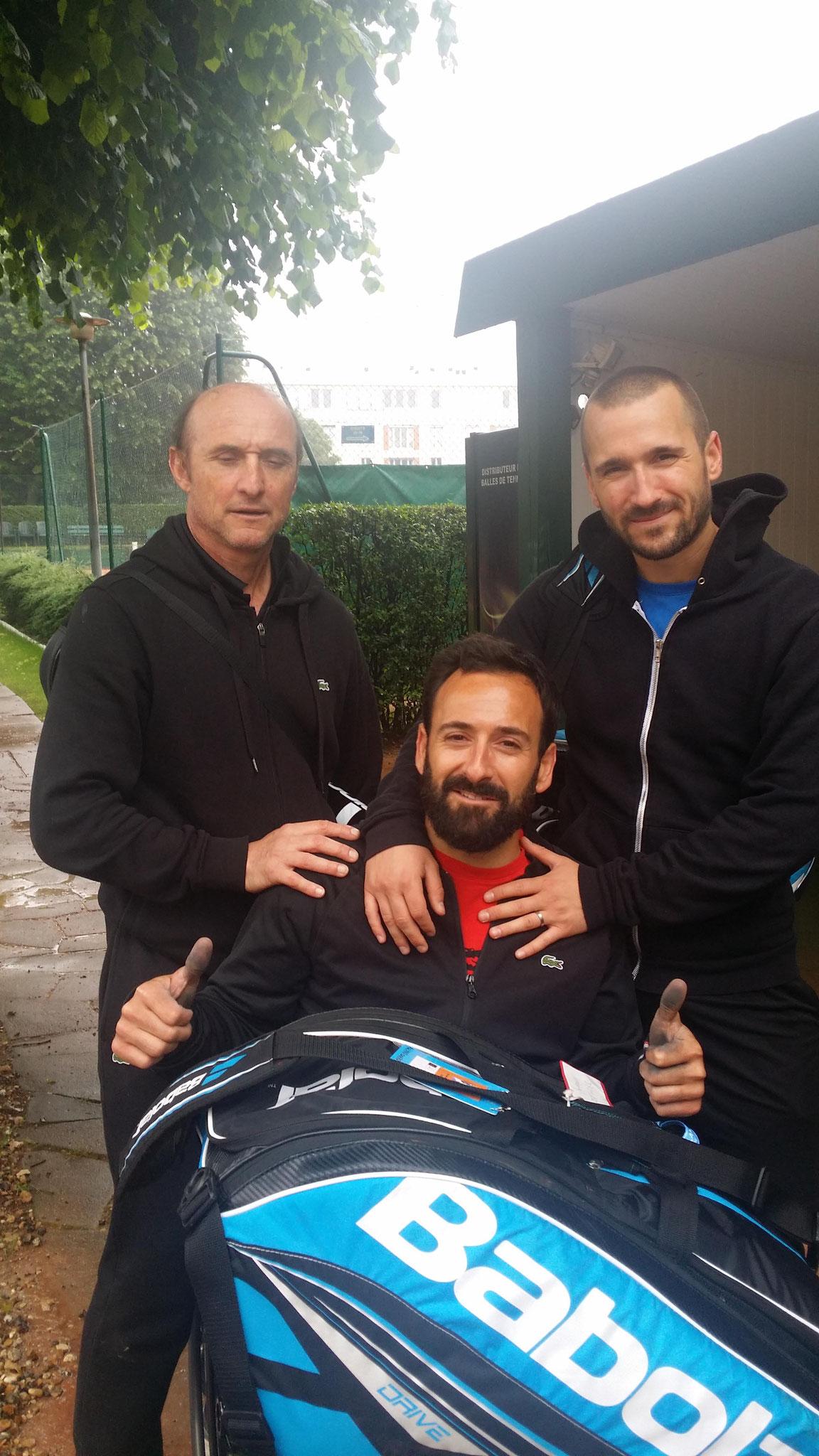 """Michael Jeremiasz finaliste en double du tennis en fauteuil à  Roland Garros s""""est entraîné au CAM mardi 31 mai"""
