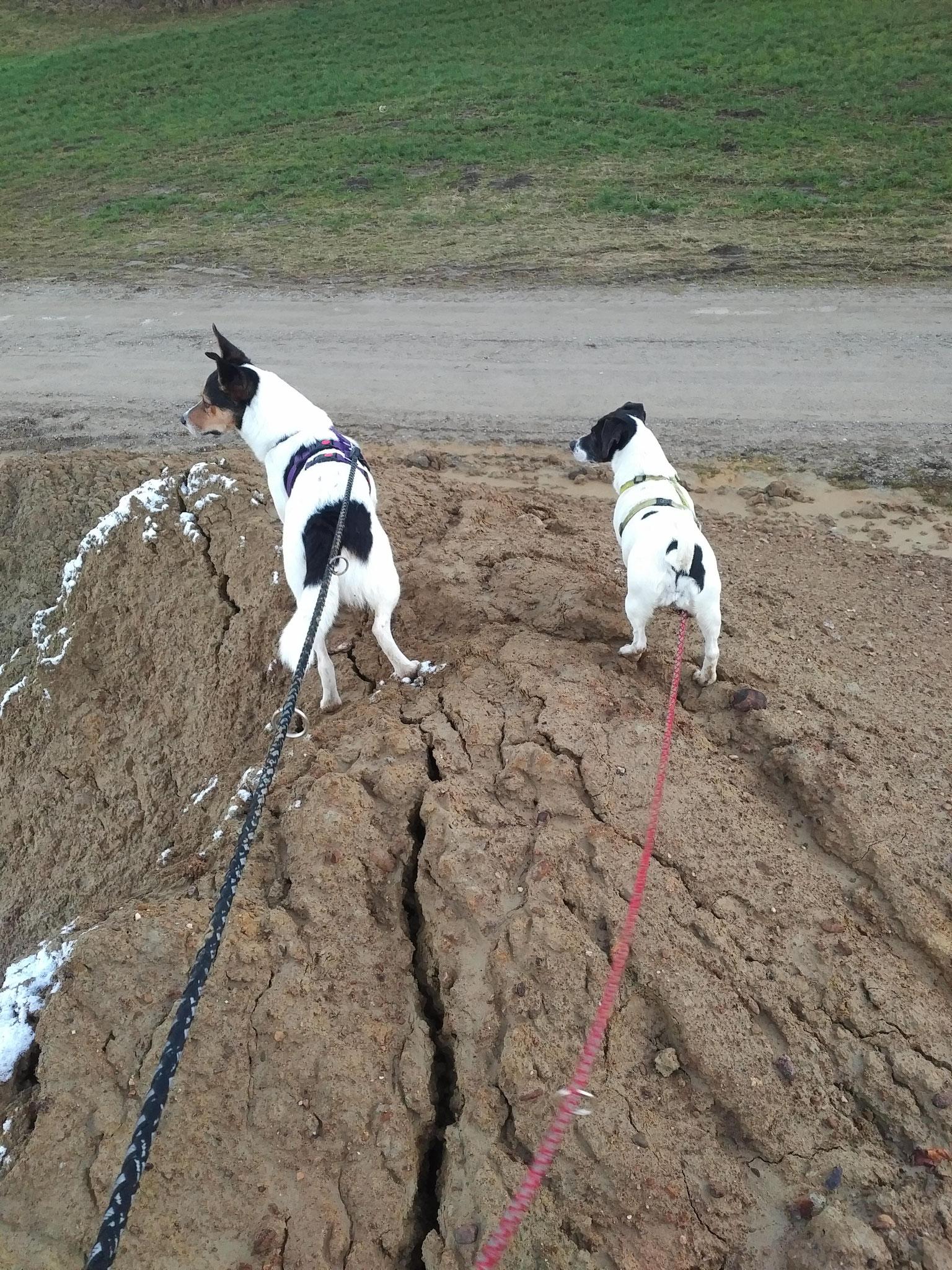 Balthasar und Chiara am Ende unseres matschigen Berglaufs