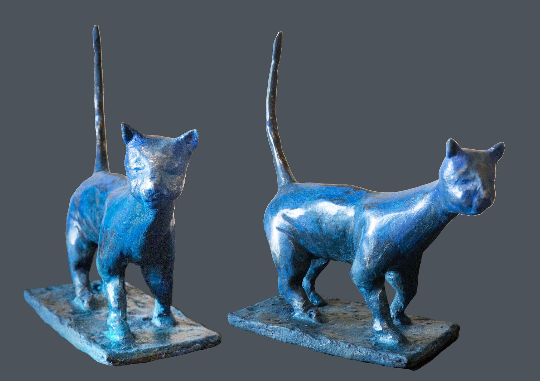 'The blue cat' • 7x20x17 cm 1,6kg