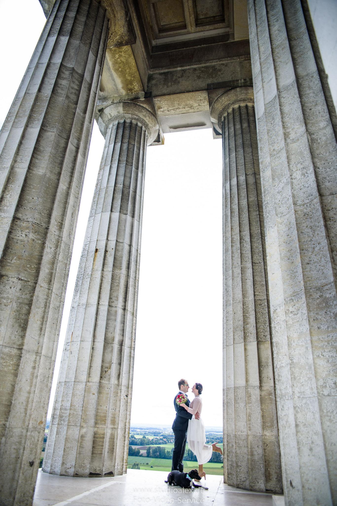 Hochzeitsfotografie auf Walhalla