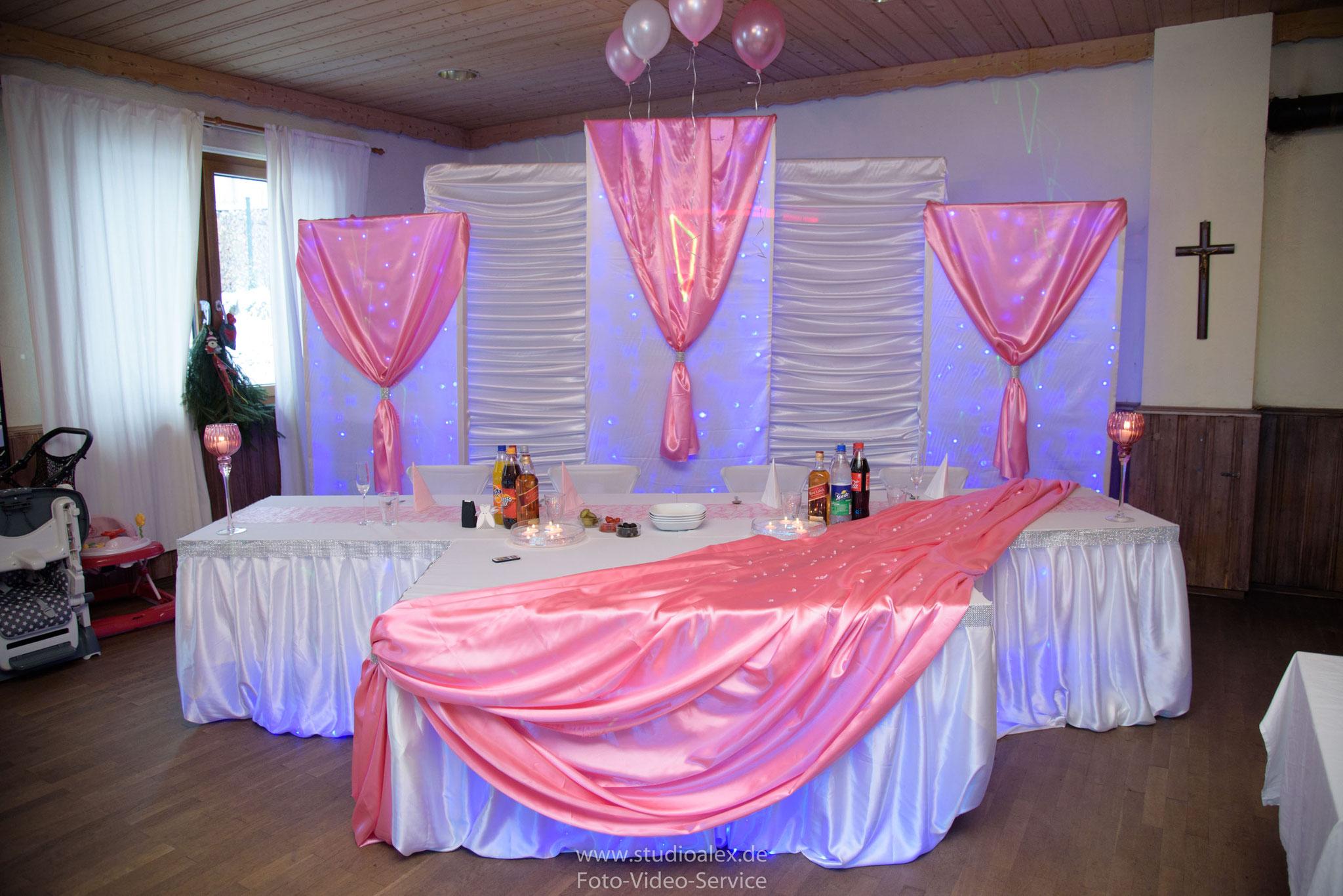 Dekoration Hochzeit Landgasthof Rouherer