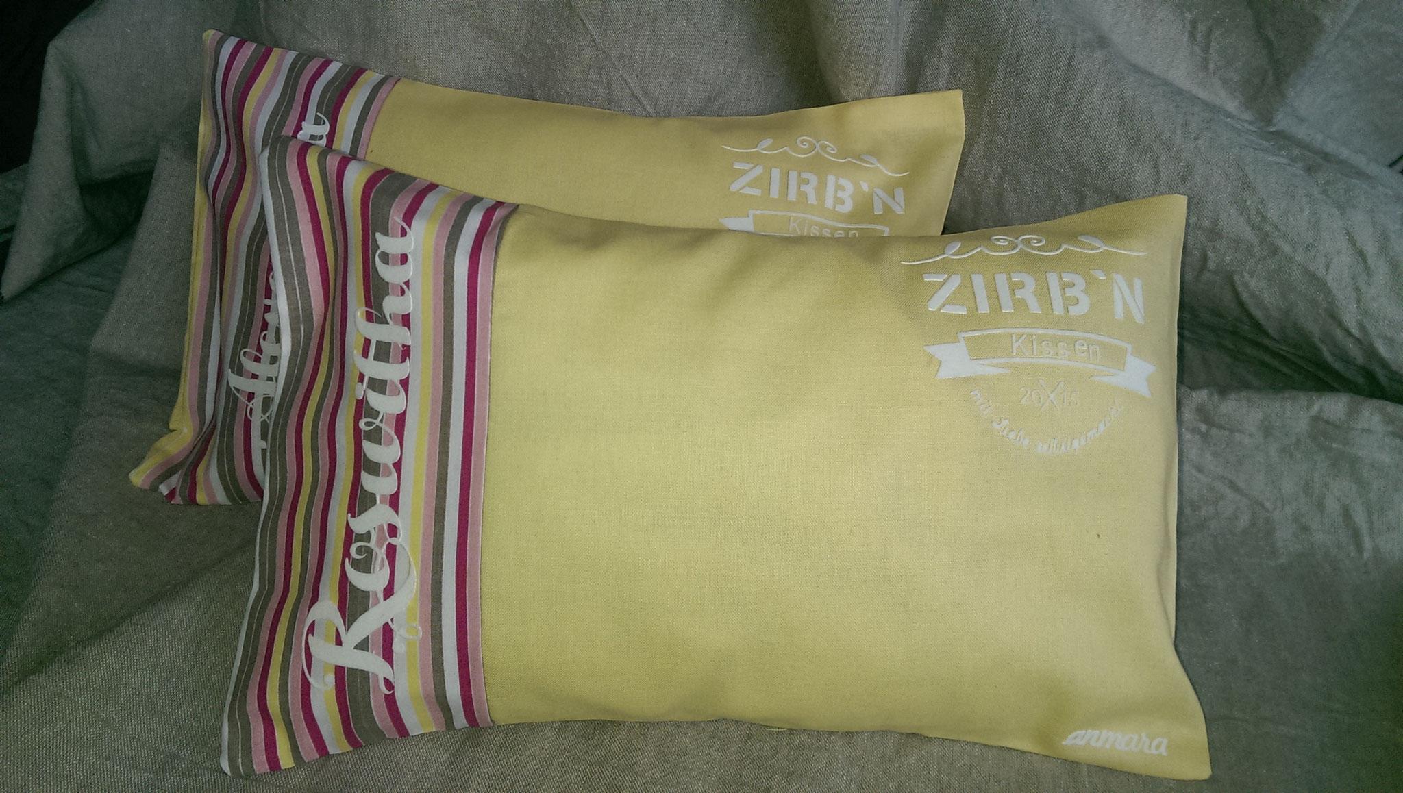 personalisiertes Zirbenkissen
