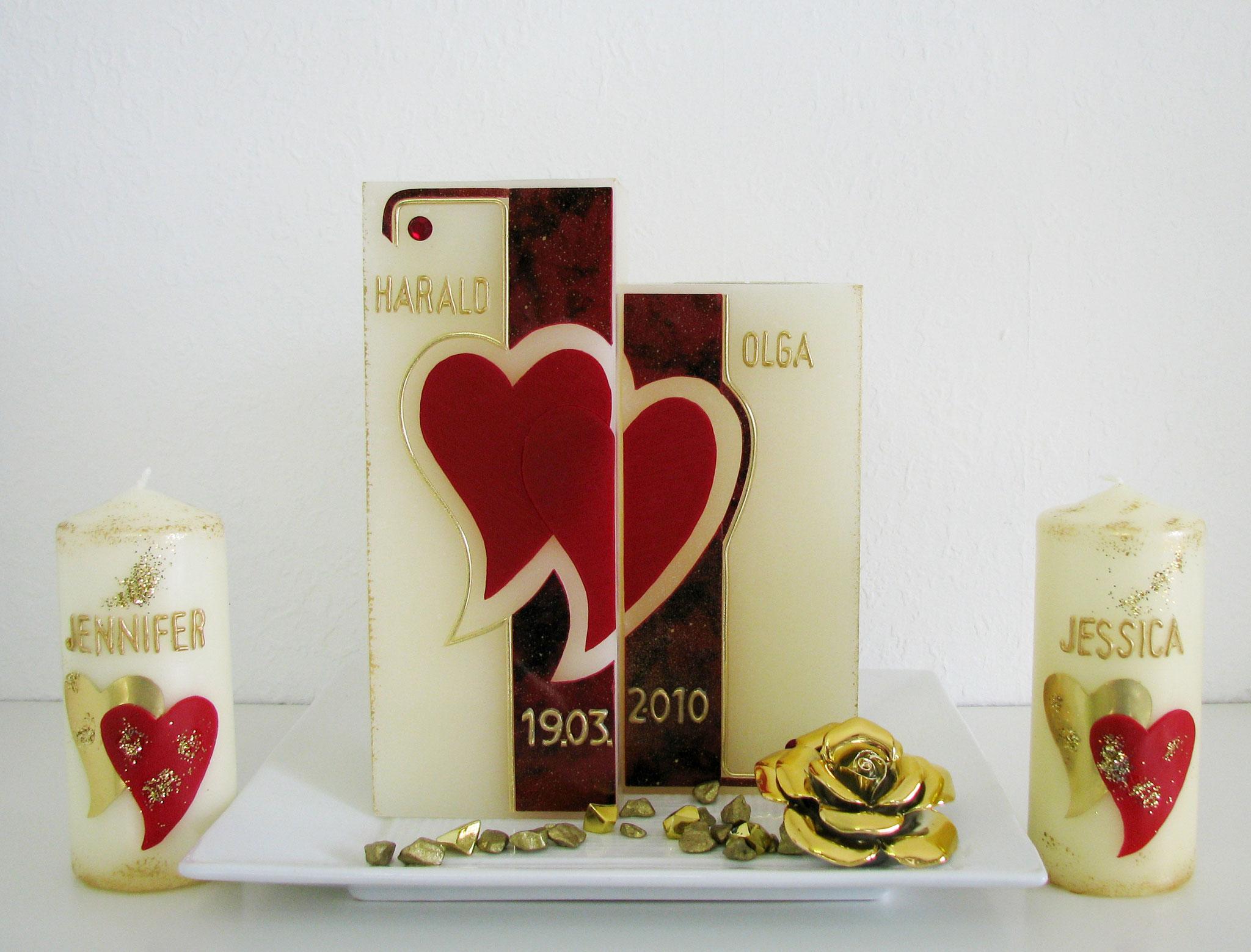 HE-0046Z, zweiteillig, HxB ca. 20 cm x 15 cm, Preis ca. € 50,-- (Kleinere Kerzen je €7,--)