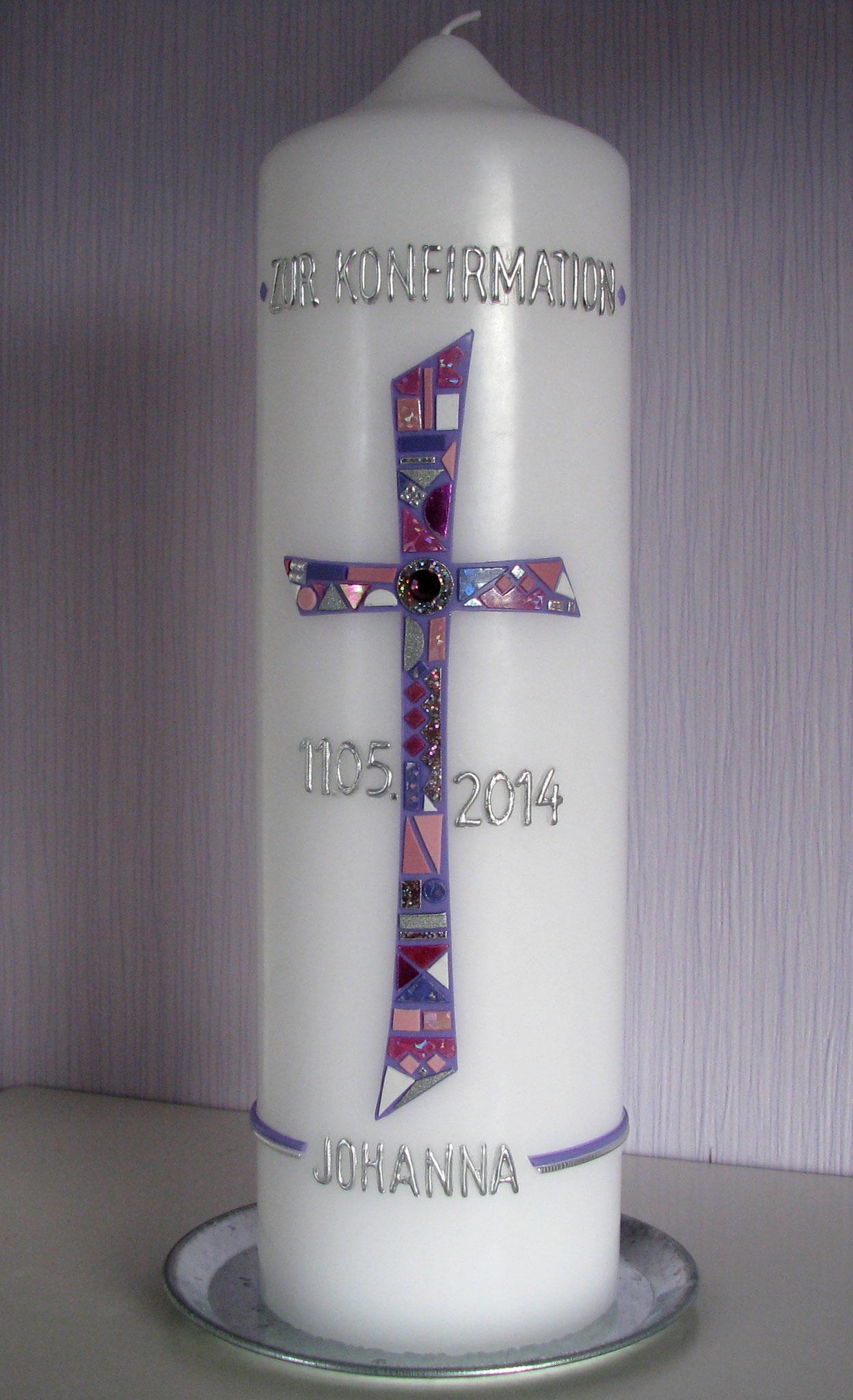 K-6003, rund, d = 8 cm H= 27 cm, Preis ca. € 44,-- (Konfirmation)