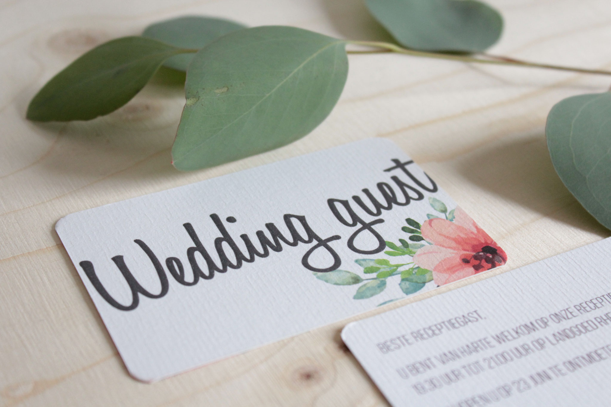 Gastenkaart - weddingstationary