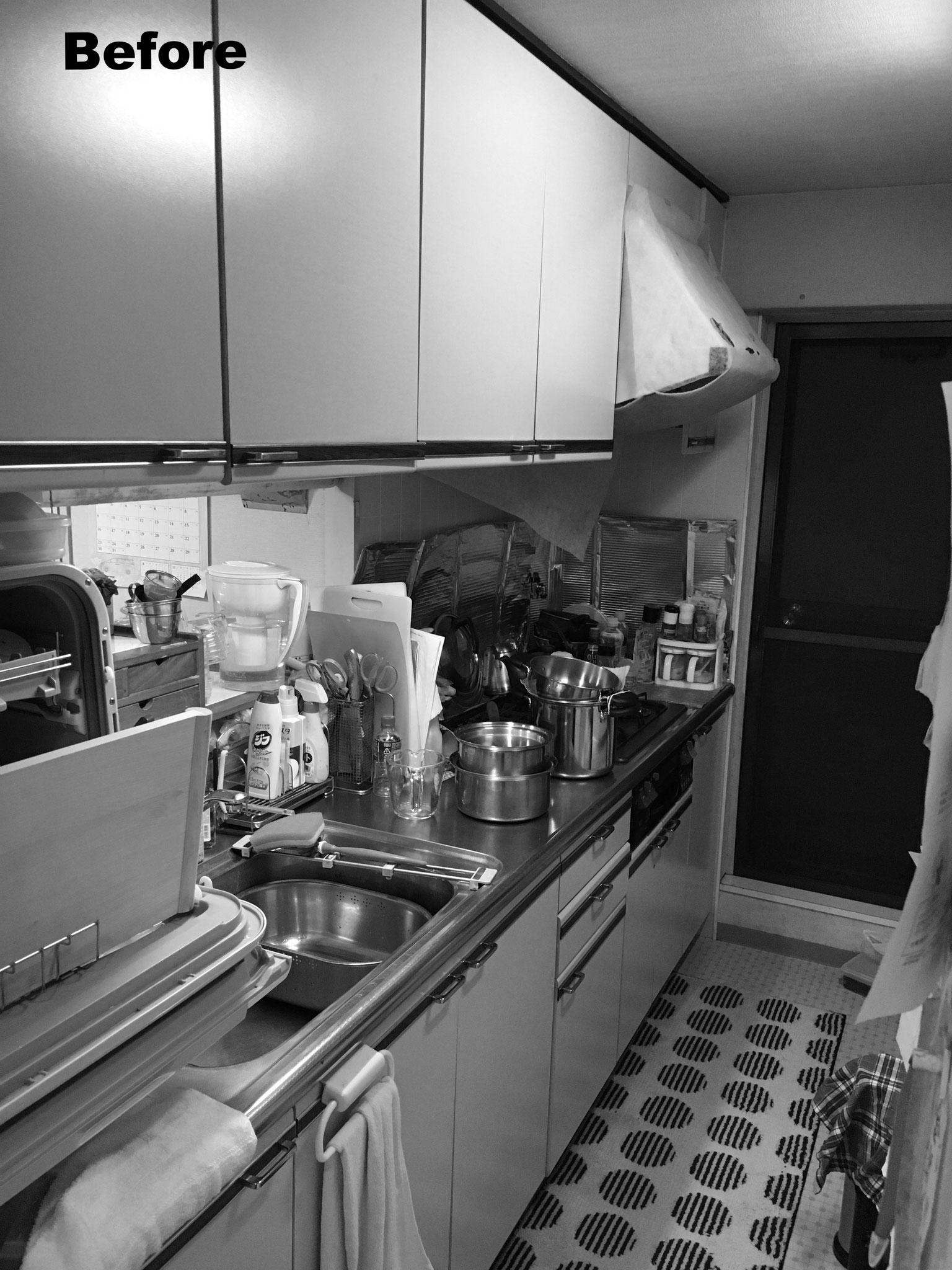 収納しづらかった以前のキッチン