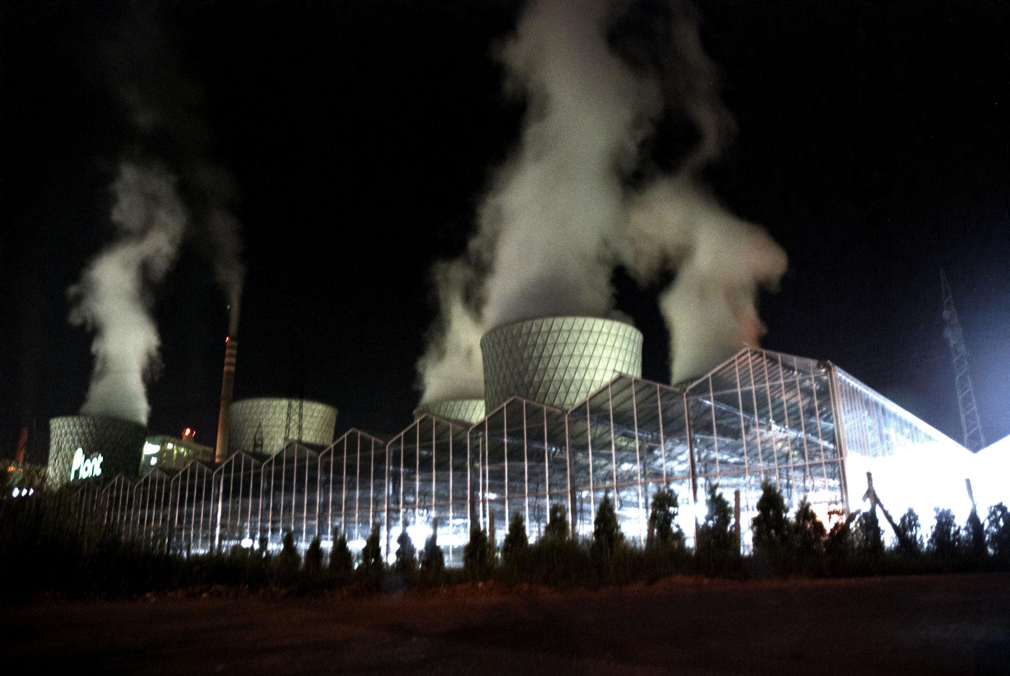 Ciminiere della centrale a carbone