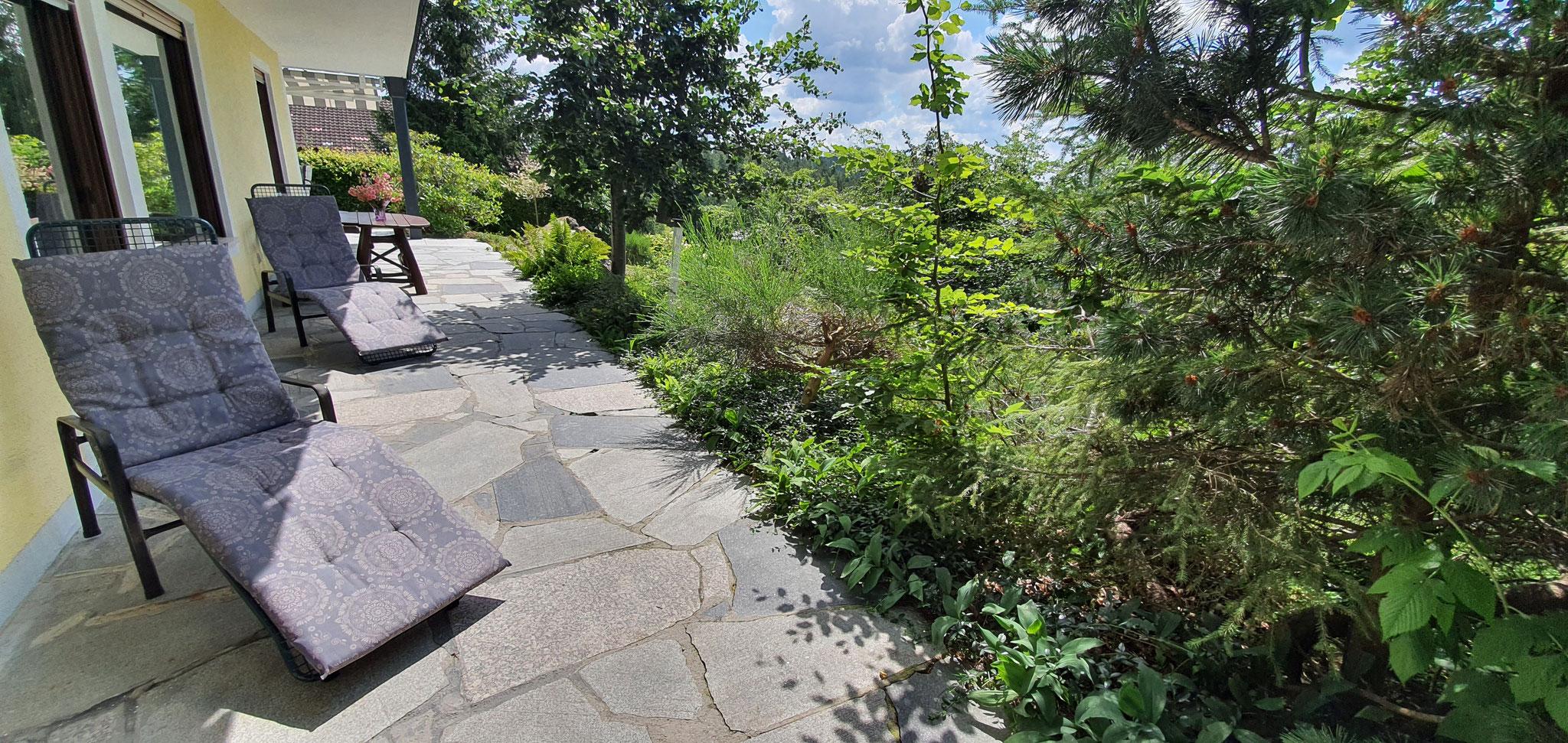 Terrasse Südseite zum Sonnenbaden