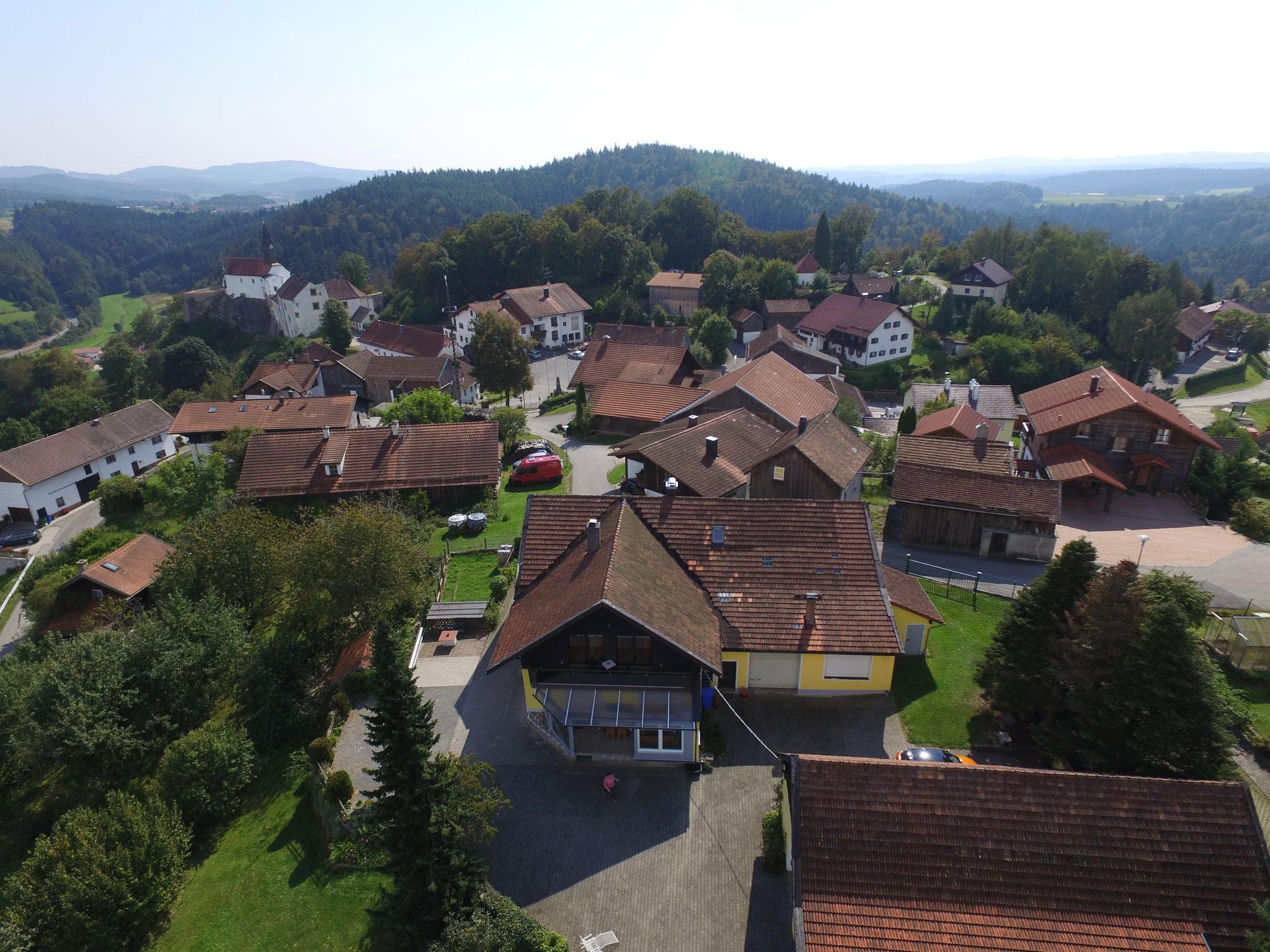 Luftbildaufnahme vom Ferienhaus