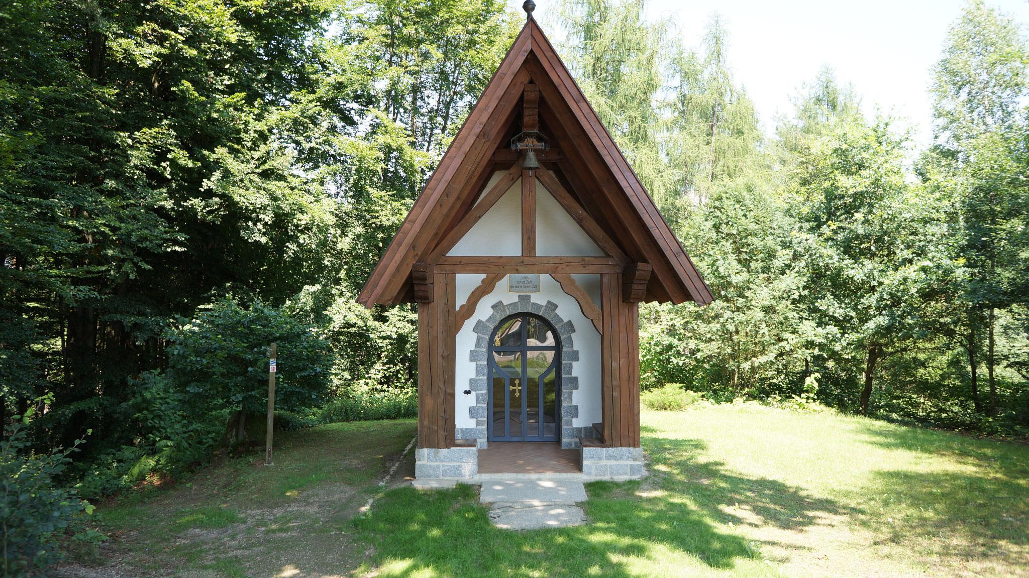 Jesus Rast Kapelle - hier beginnen die Wanderwege (gegenüber von den Ferienhäusern)