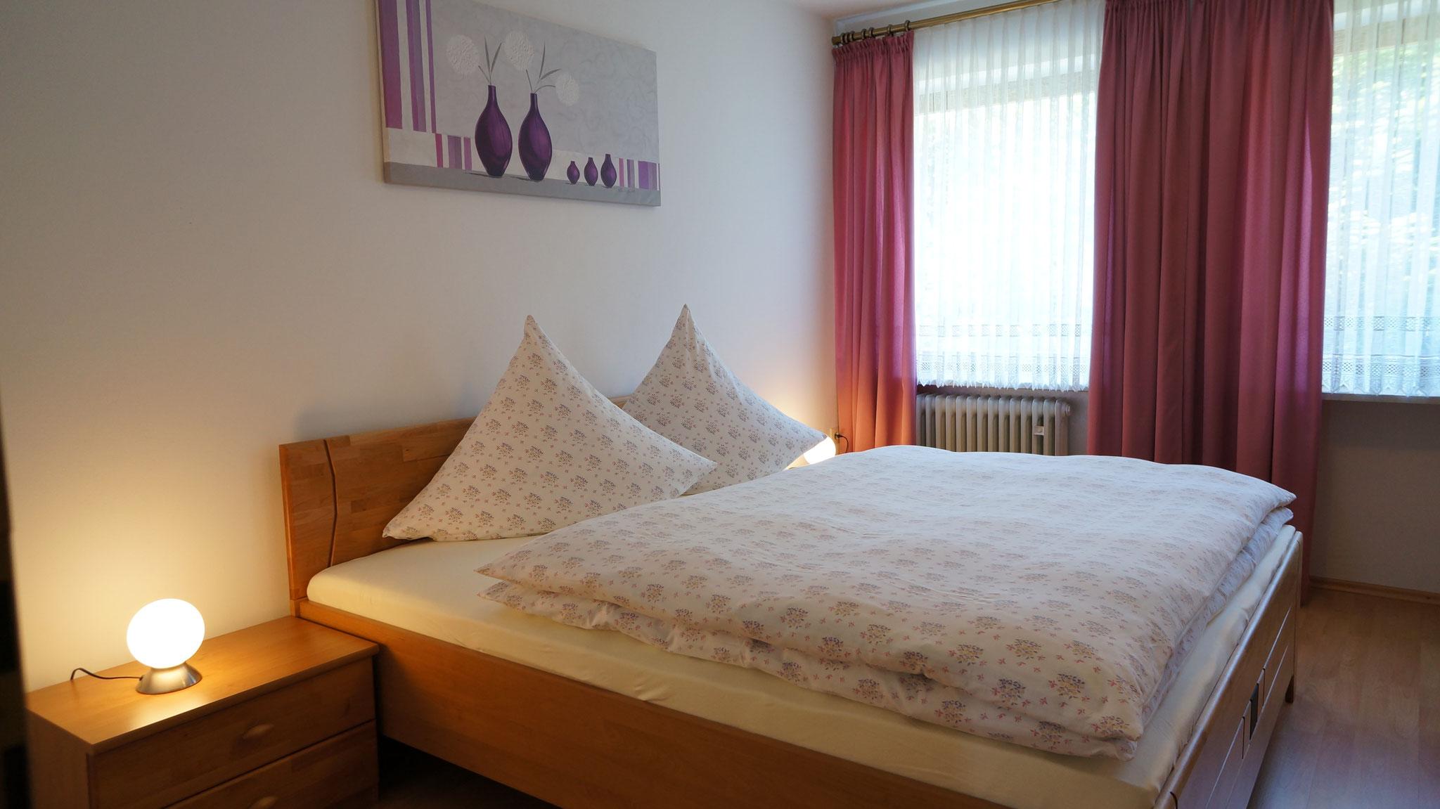 Schlafzimmer I.  mit Doppelbett