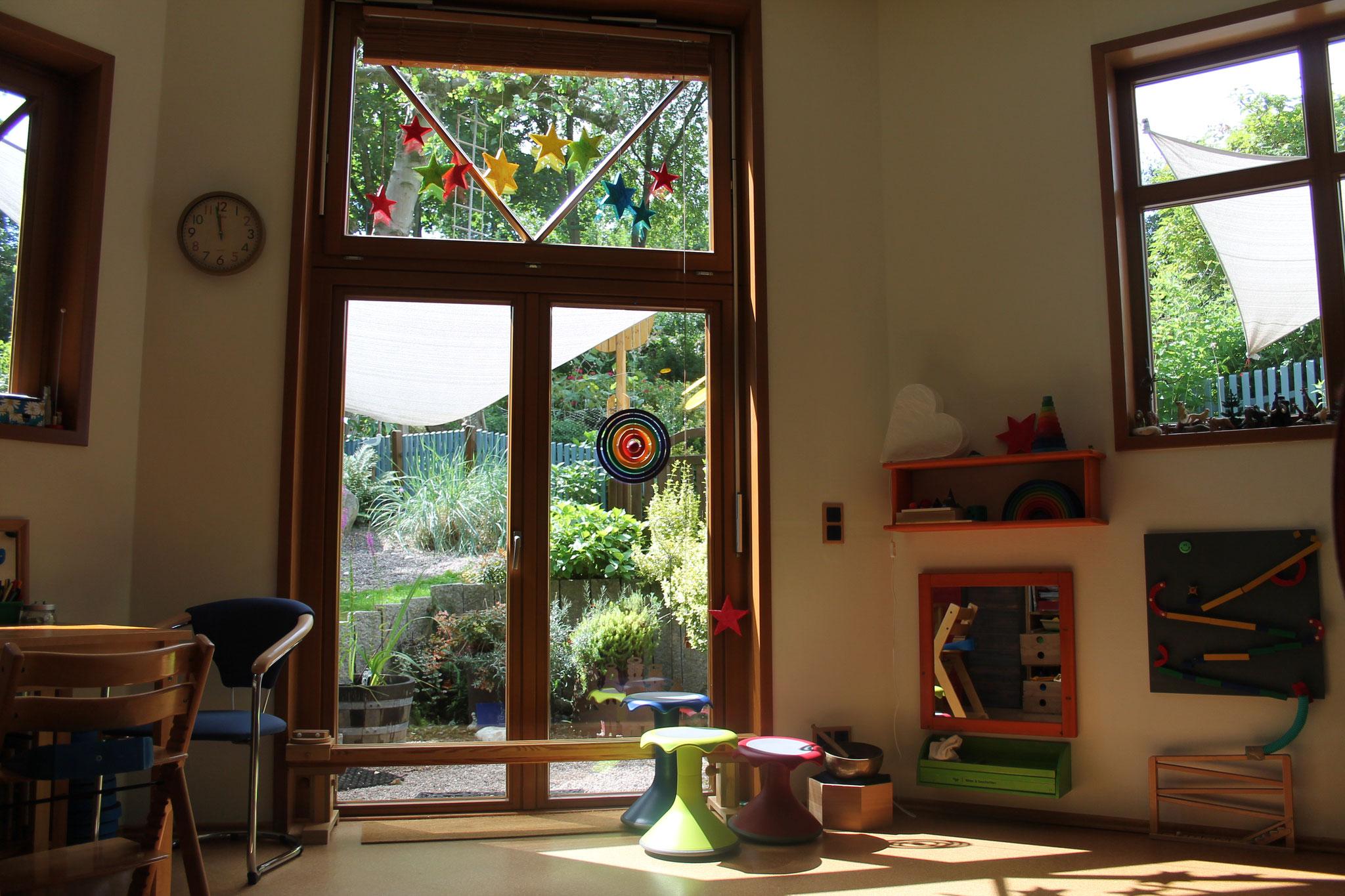 Der Blick in unseren Garten öffnet so manches ...