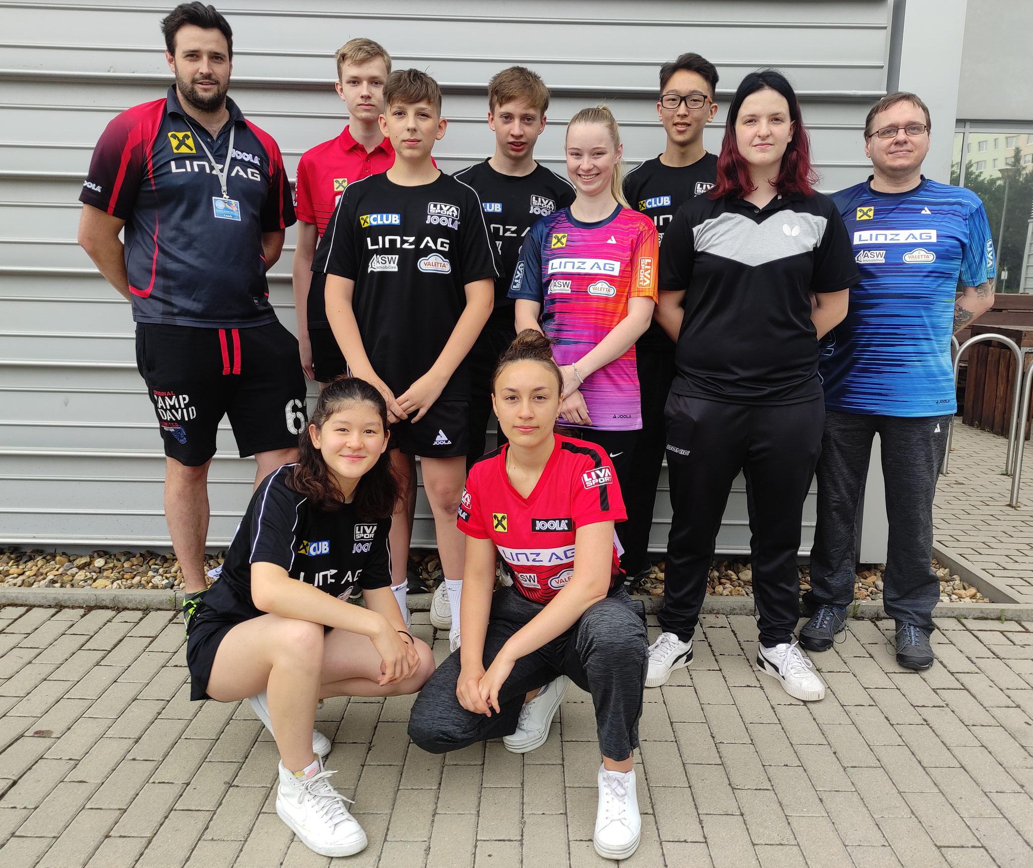 LINZ AG Froschberg Nachwuchs + Gastspielerinnen in Prag 2021