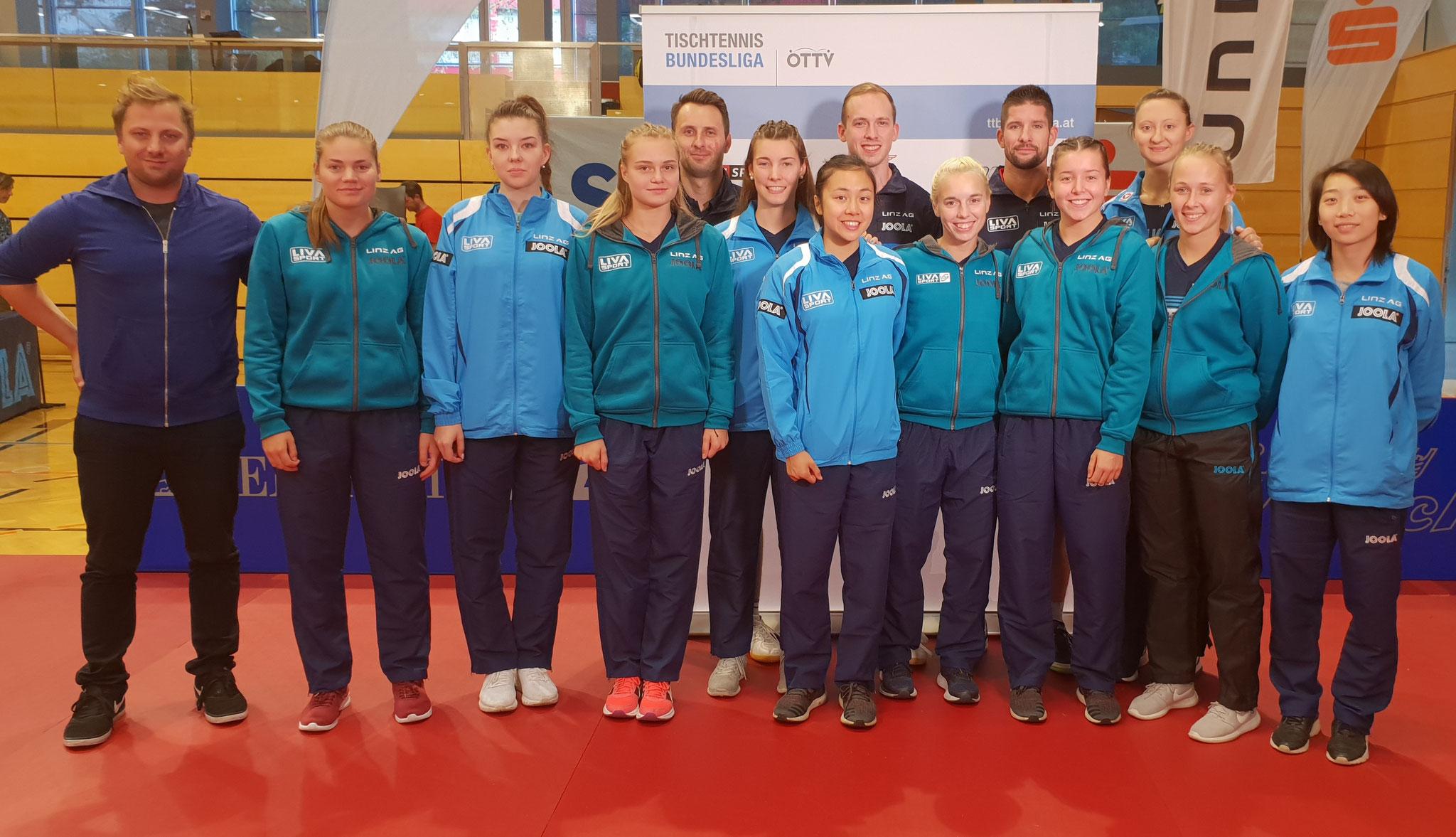 Mit 20 Spielerinnen, Spielern und Betreuern war Linz beim Cup auch zahlenmäßig absolut Spitze