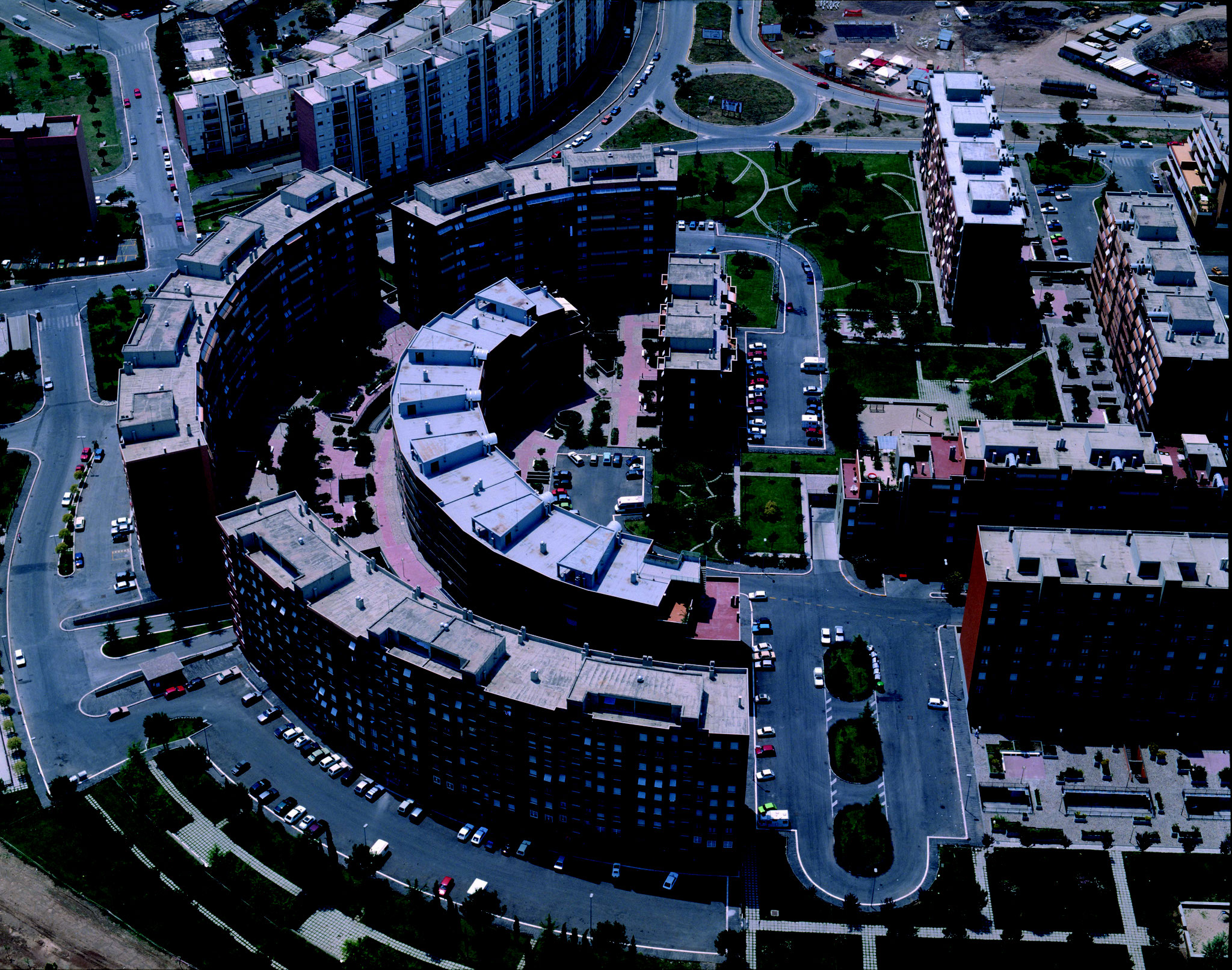 area pilota del progetto europeo BUILDHEAT, nel quartiere Colli Aniene, Roma