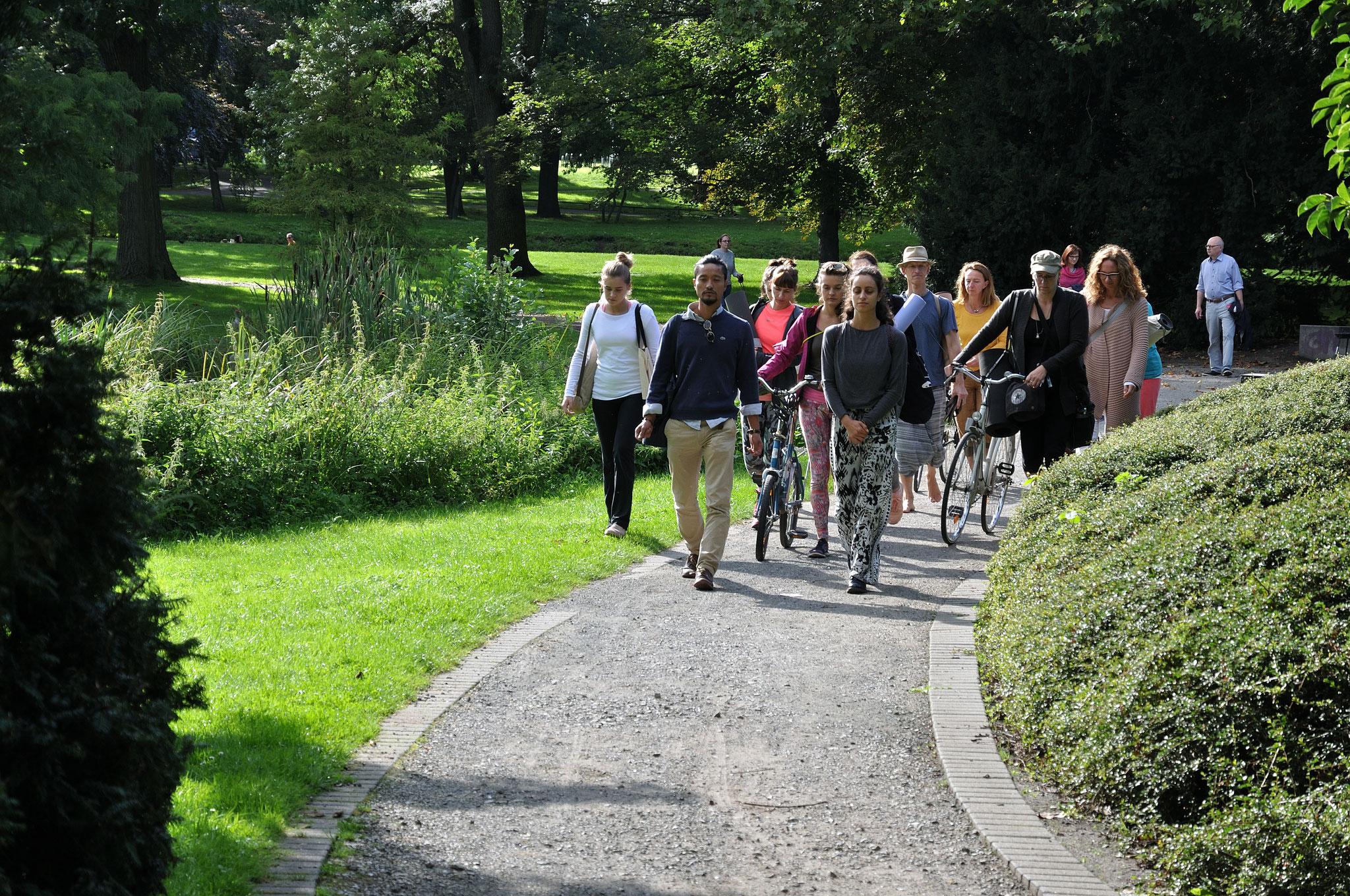 Walking Meditation with Alice to Villa Salve Hospes. Foto: Elisabeth Stumpf