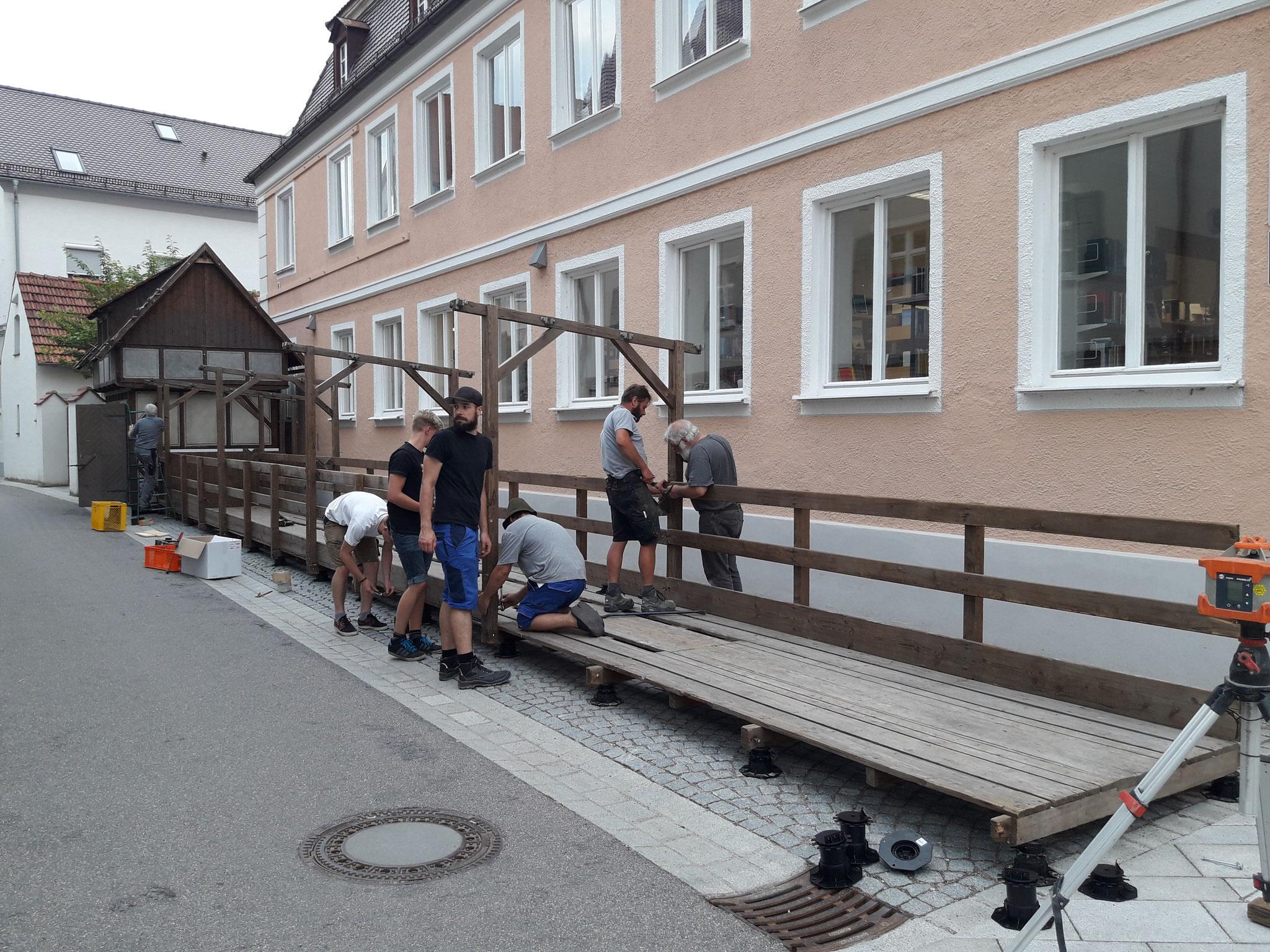 """07.06.18: Nach sage und schreibe 12 Jahren steht unsere Kegelbahn wieder. Auf """"Gut Holz"""" in unserer Zunftstraße."""