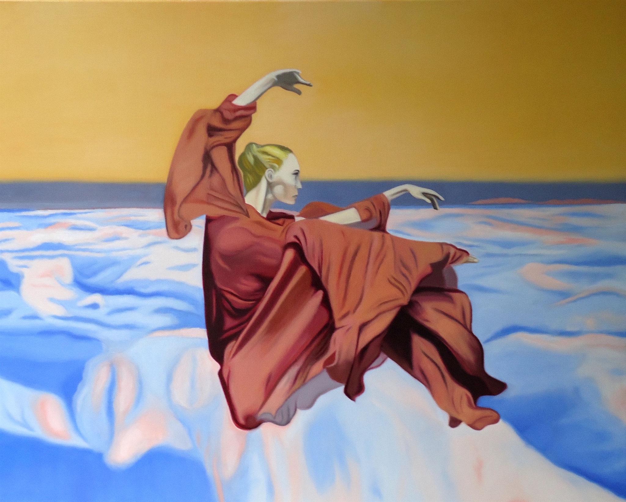 ' Lucy in the sky ' Öl a. LW, 80 x 100 cm, 2020