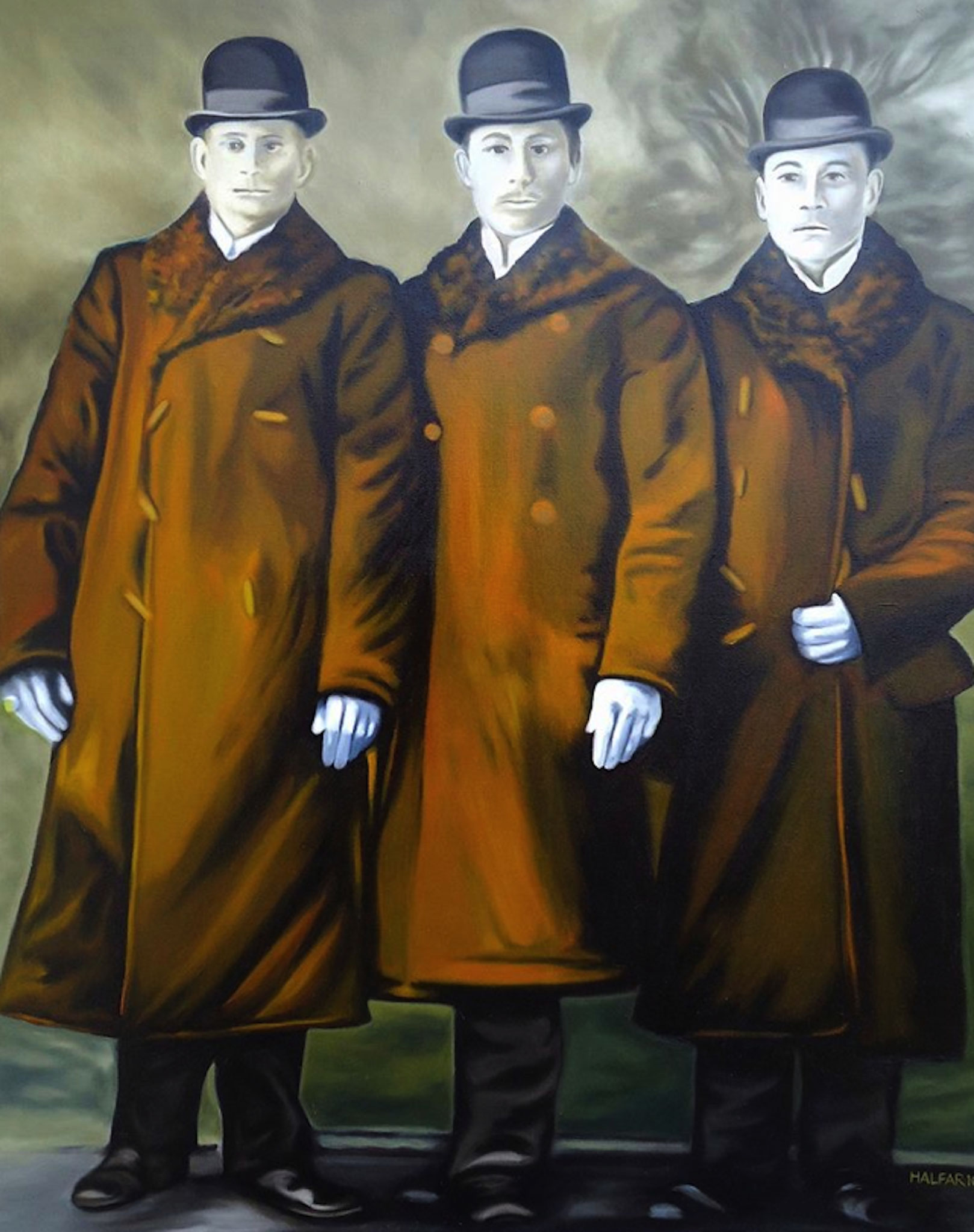 ' Die grausamen Brüder ' Öl a. LW, 100 x 80 cm, 2011