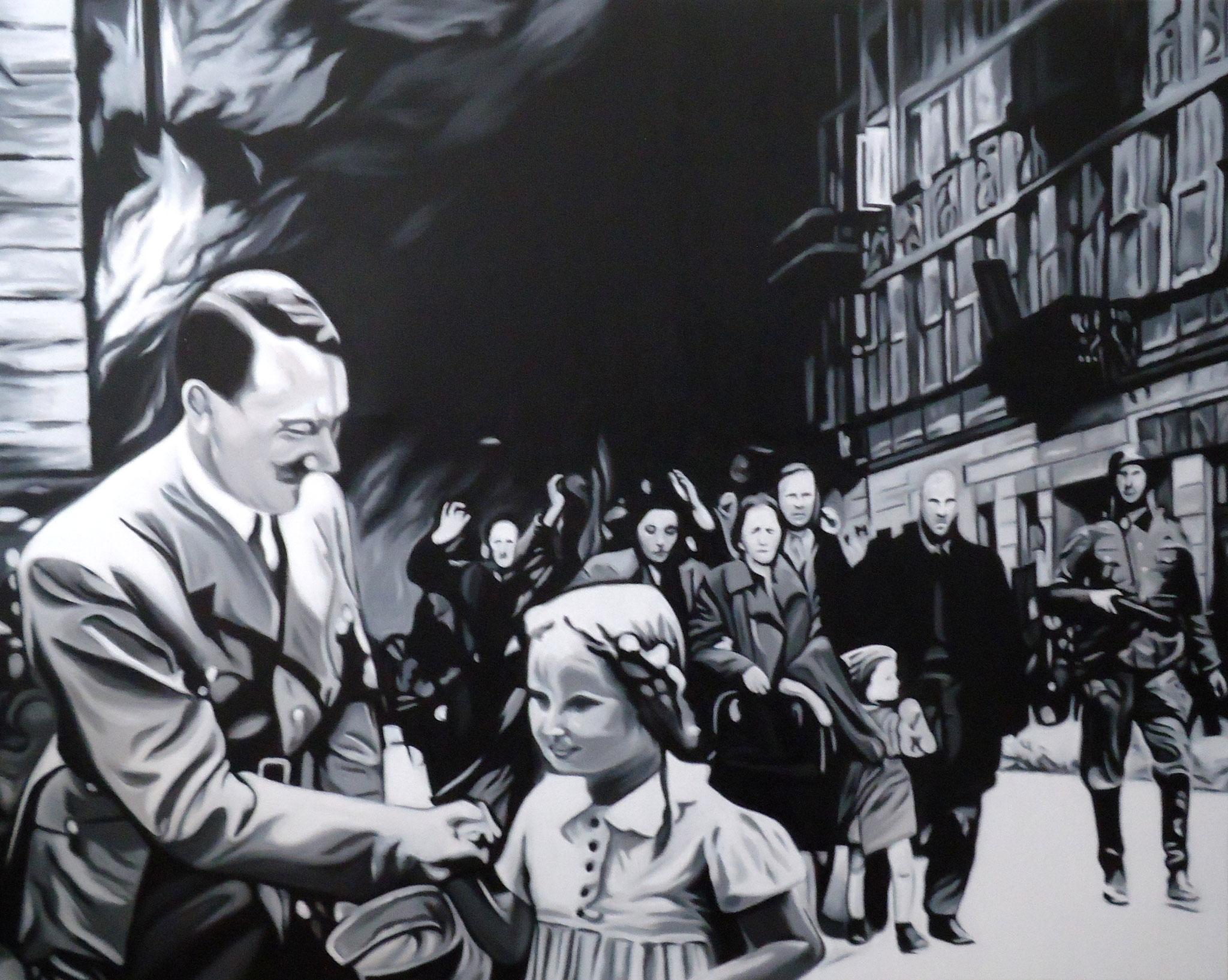 ' Der Kinderfreund ' Öl auf LW, 80 x 100 cm, 2016