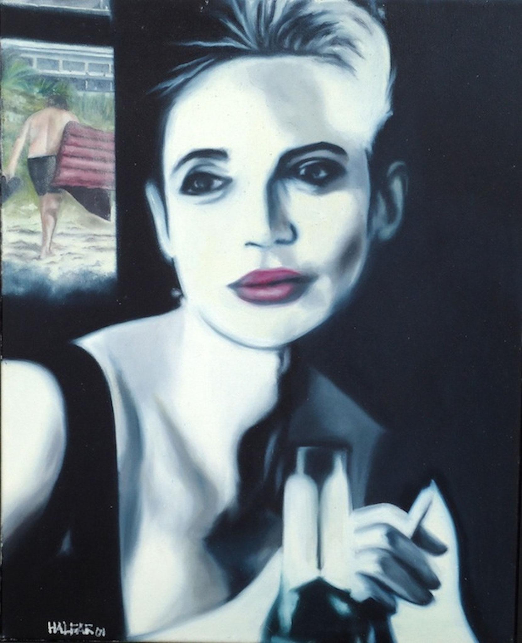 ' Happy hour ' Öl a. LW, 50 x 40 cm, 2001