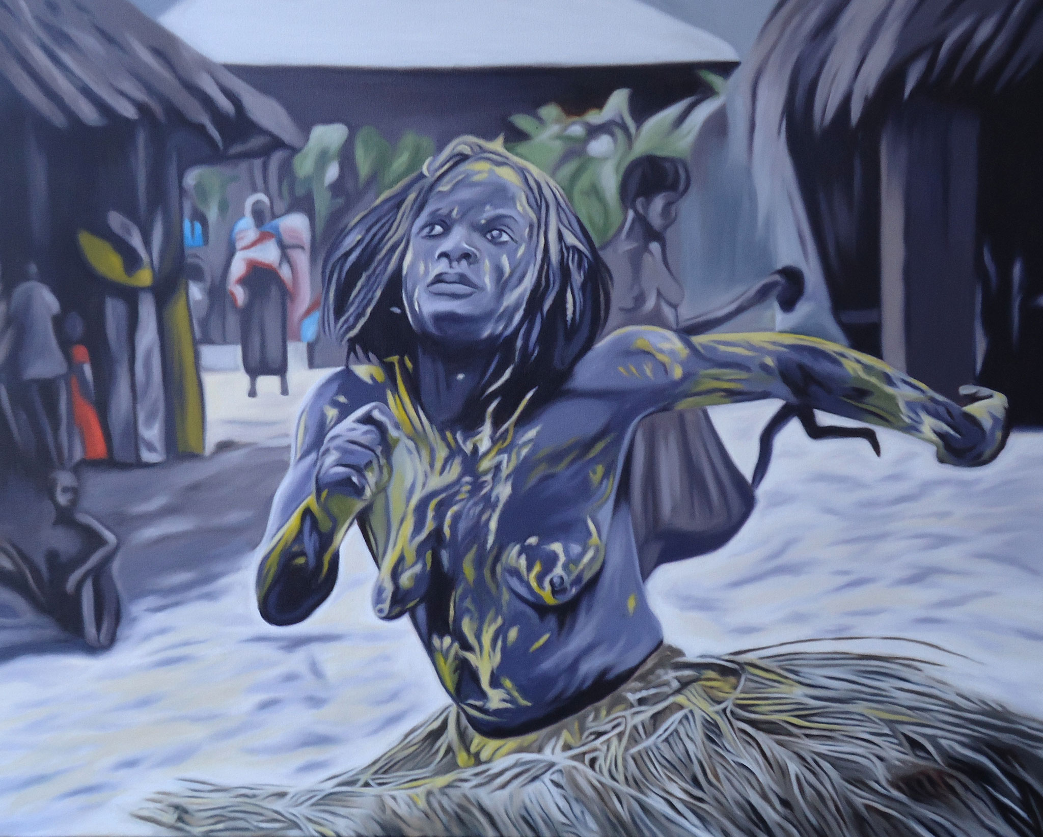 ' Trance ' Öl a. LW, 80 x 100 cm, 2017