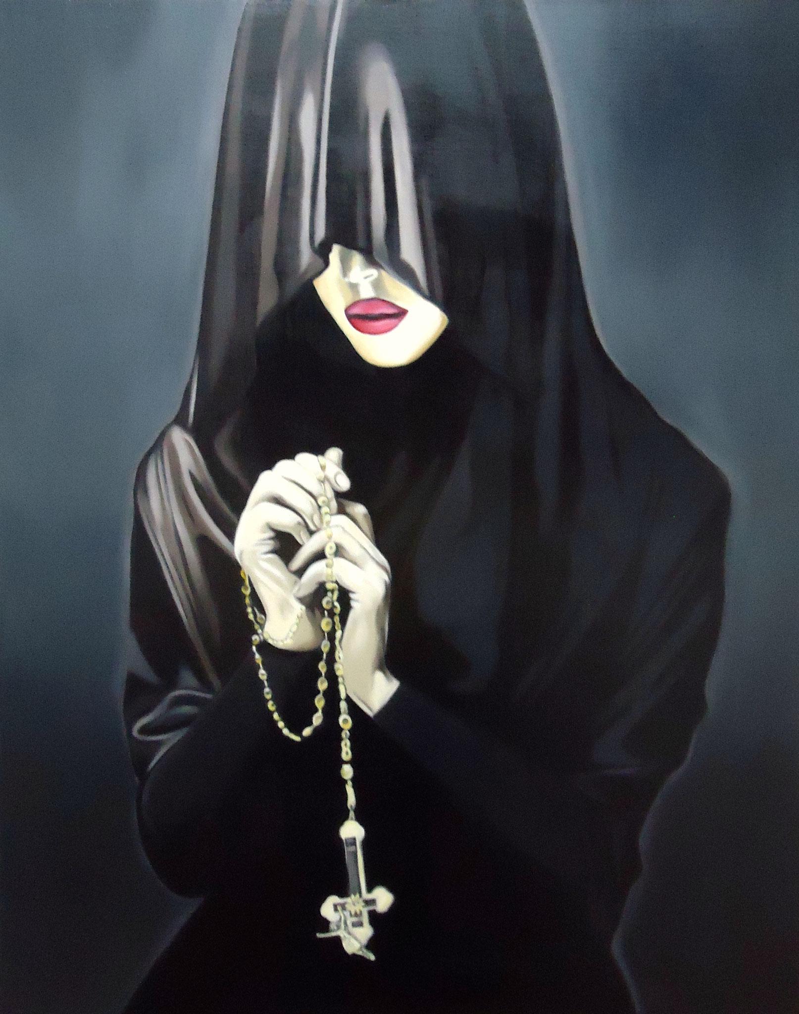 ' Der Zweifel ' Öl a. LW, 100 x 80 cm, 2016