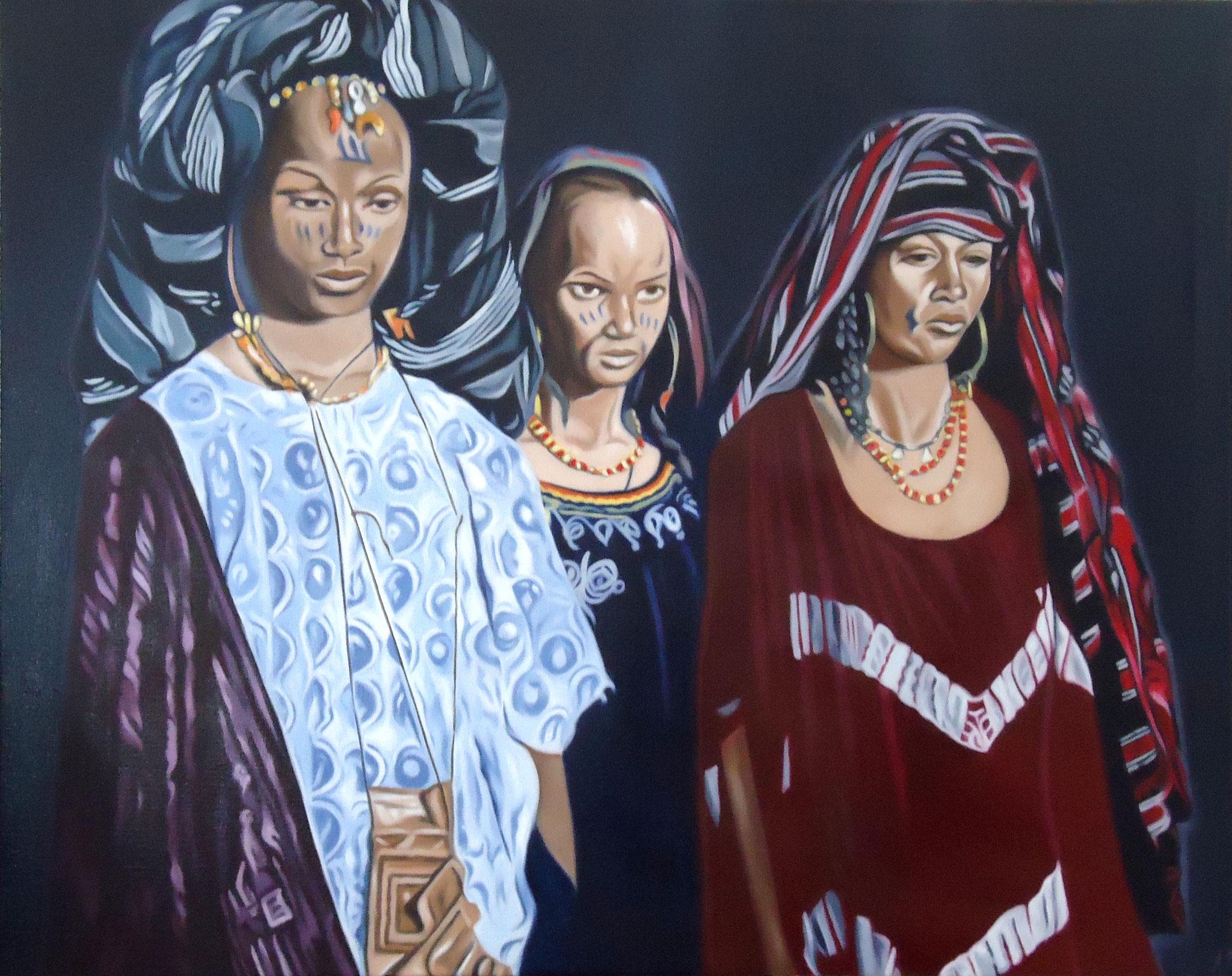' Sahel ' Öl a. LW, 80 x 100 cm, 2016