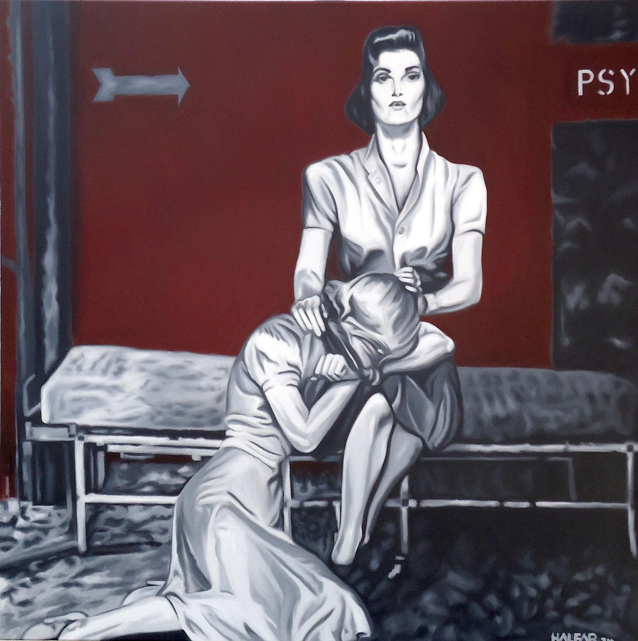 ' PSY ' Öl a. LW, 100 x 100 cm, 2014