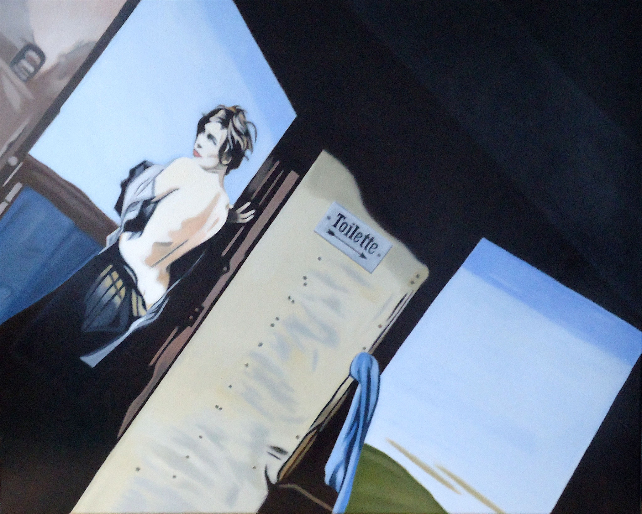 ' Der Morgen danach ' Öl a. LW, 80 x 100 cm, 2019