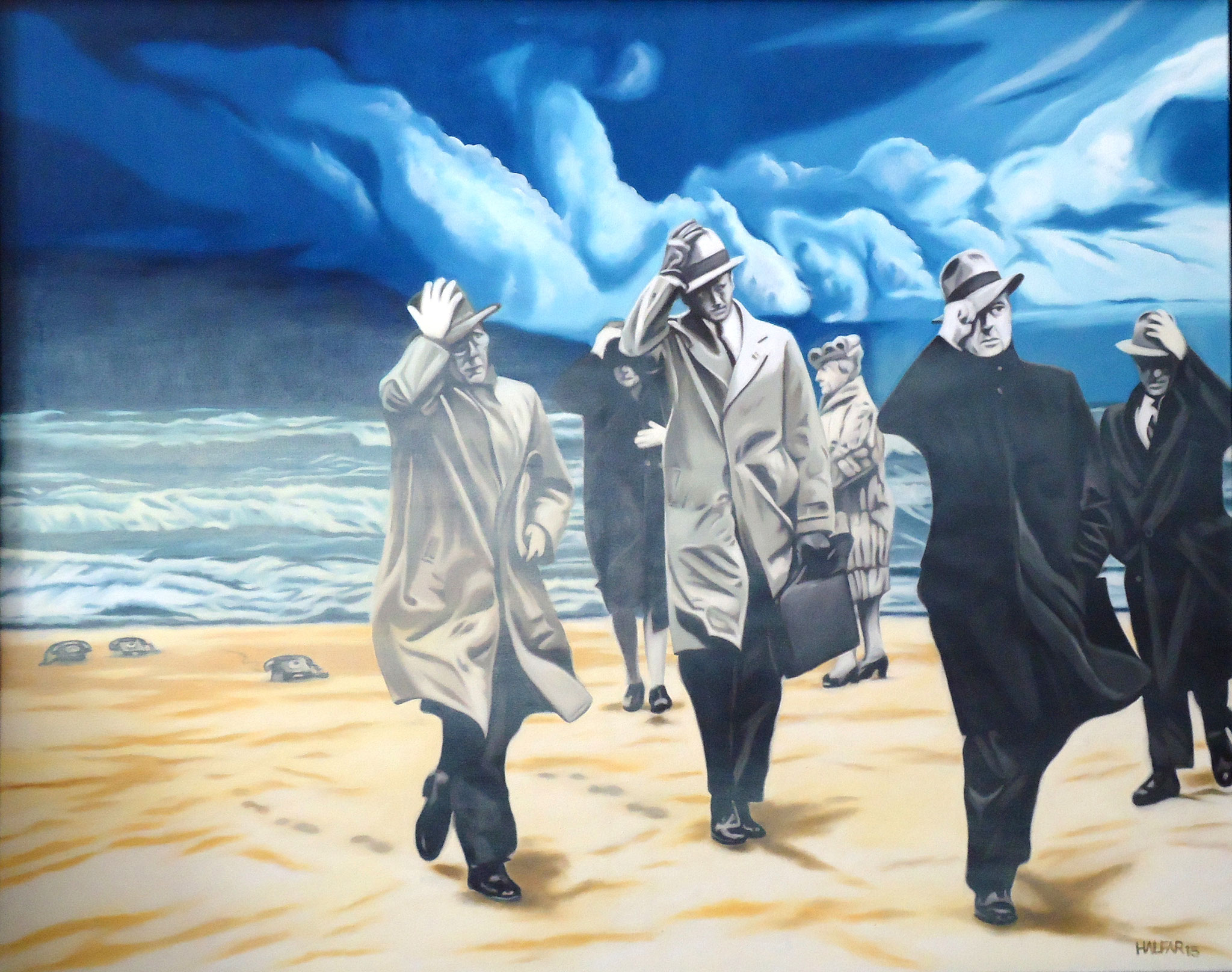 ' Die Konferenz ' Öl a. LW, 80 x 100 cm, 2015