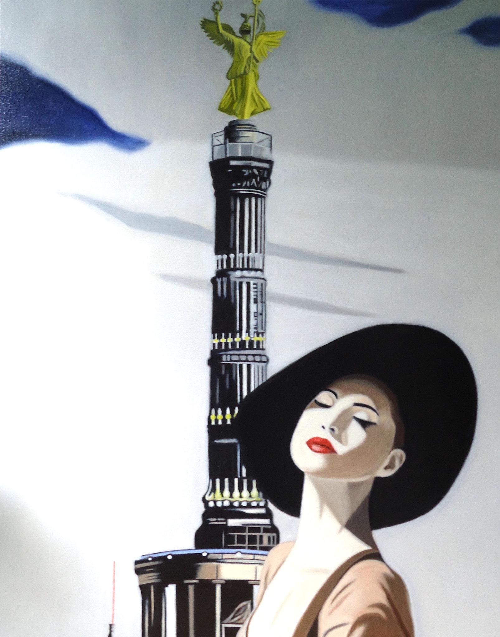 ' Ick bin dit Schärfste von janz Berlin ' Öl a. LW, 199 x 80 cm, 2021