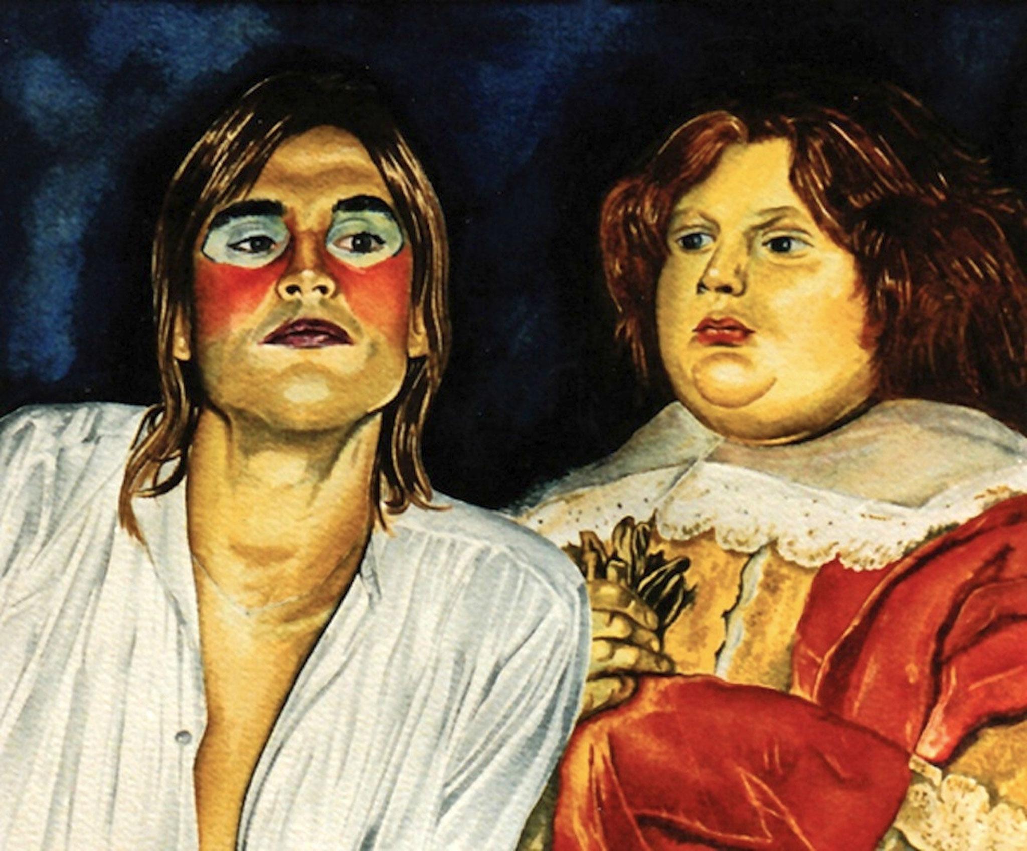 ' Mein Freund und ich' Aquarell, 30 x 40 cm, 1983