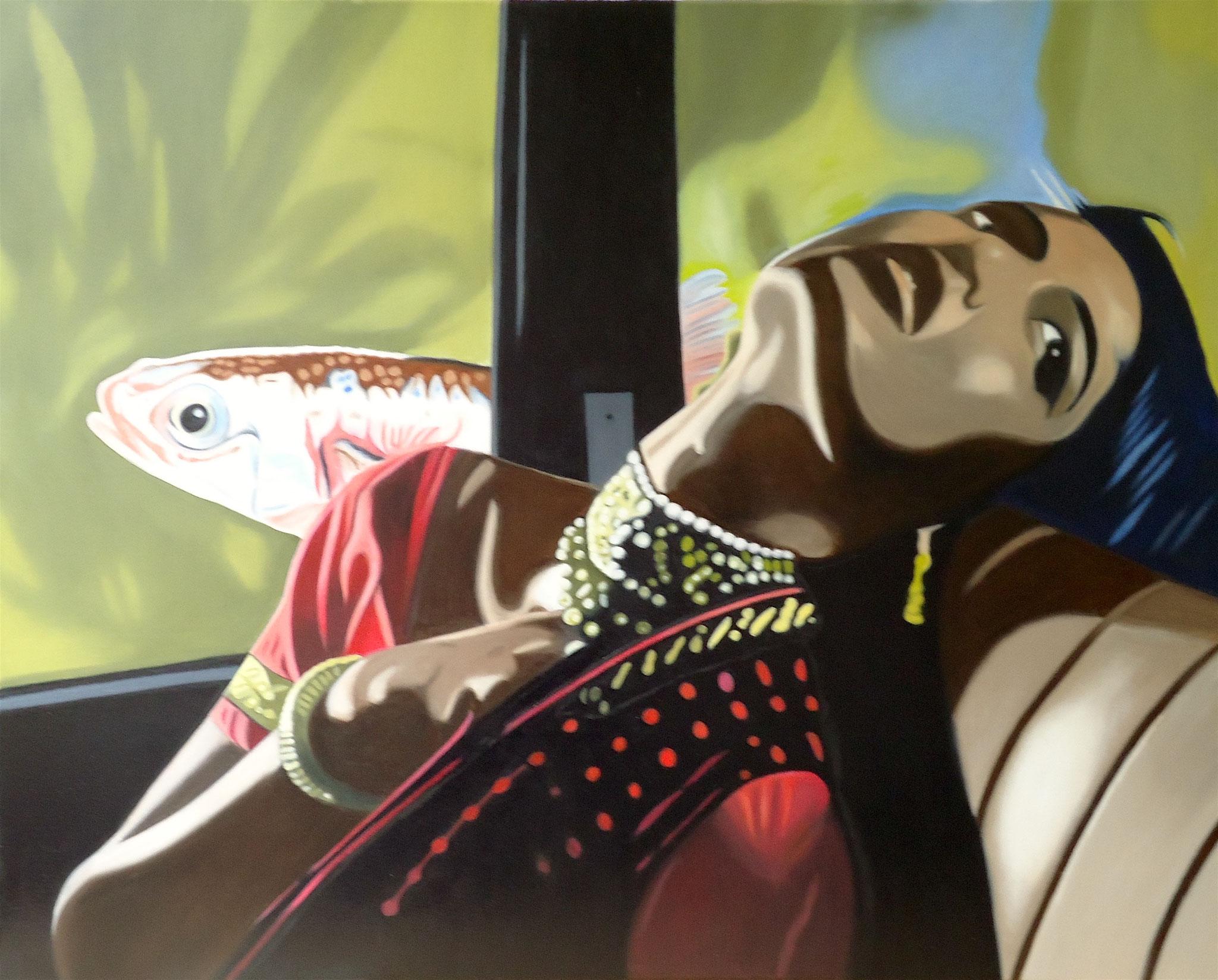 ' Wanda ' Öl a. LW, 80 x 100 cm, 2020