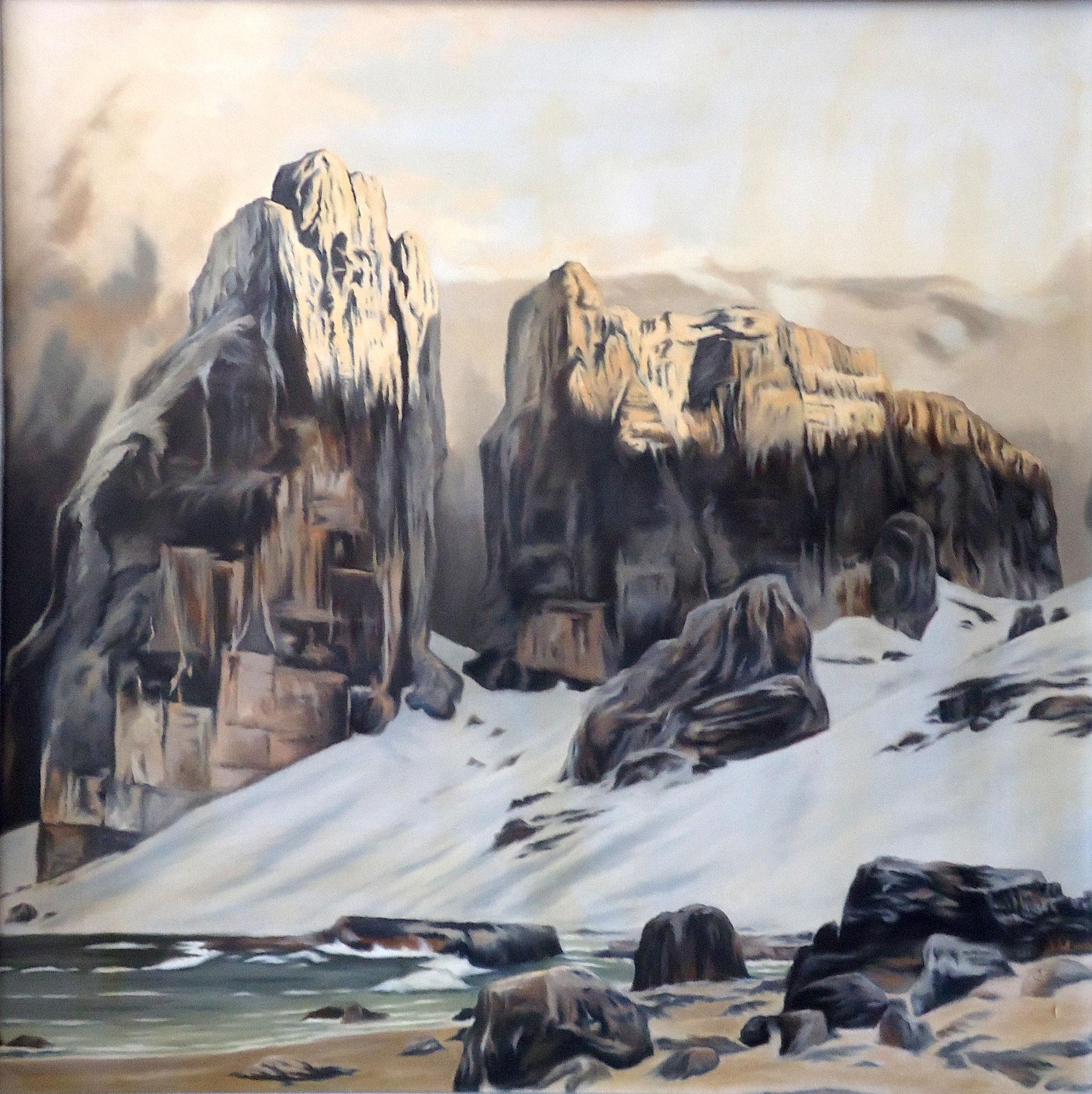' Am Ende der Welt ' nach E. Bracht Öl a. LW, 100 x 120 cm, 2008