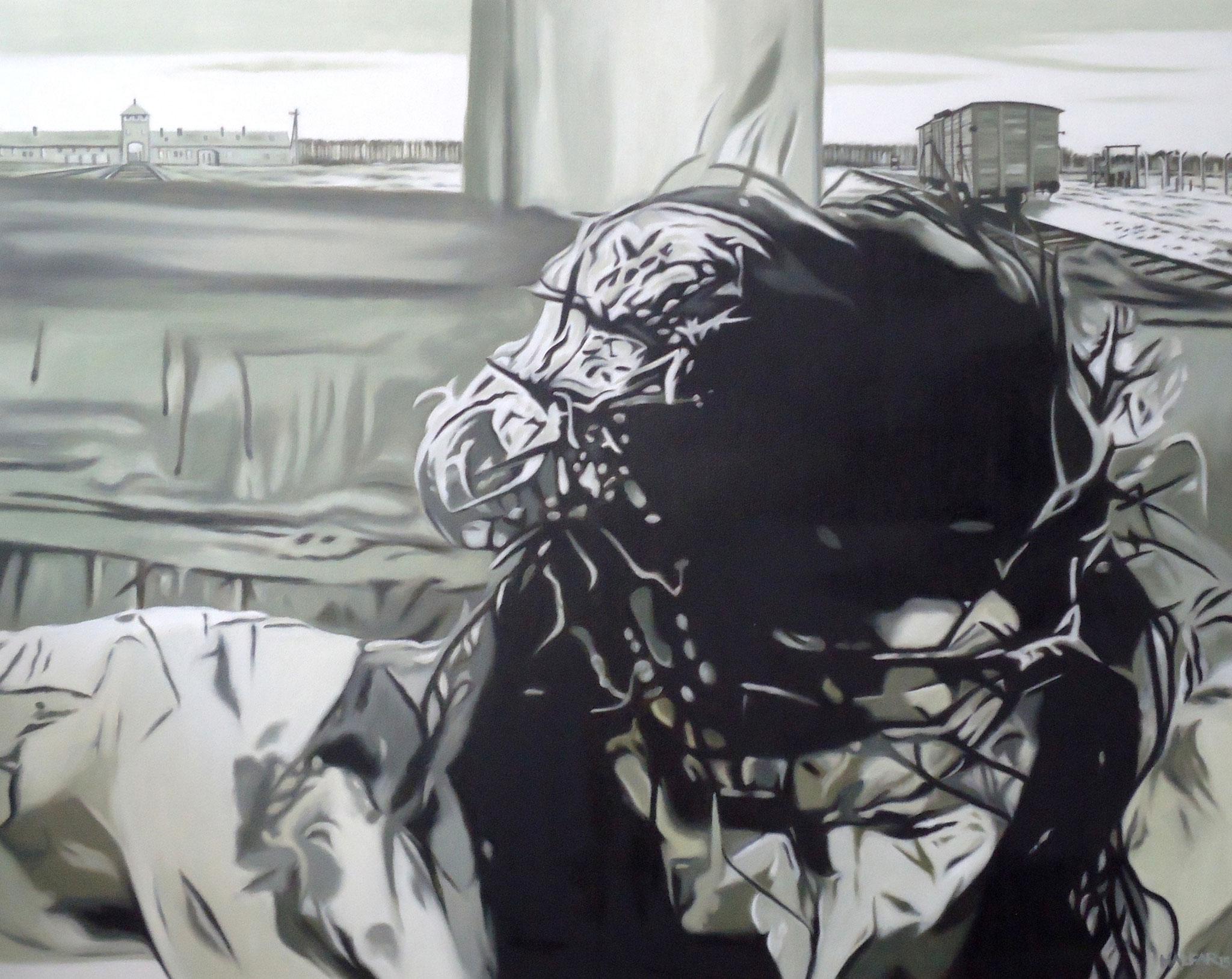 ' Schmerz ' Öl a. LW, 100 x 80 cm, 2015