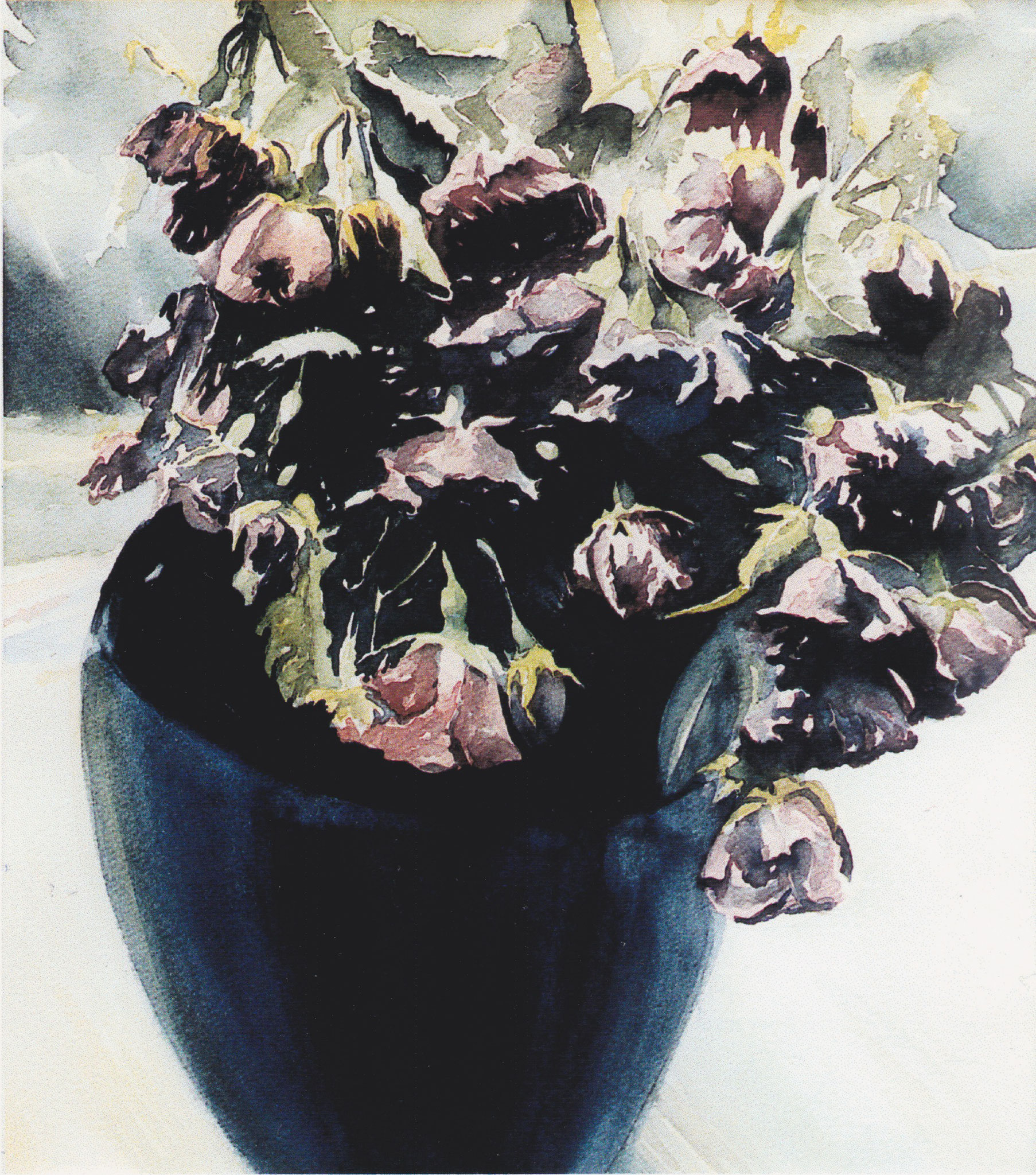 ' Rosentod ' Aquarell, 40 x 30 cm, 1996