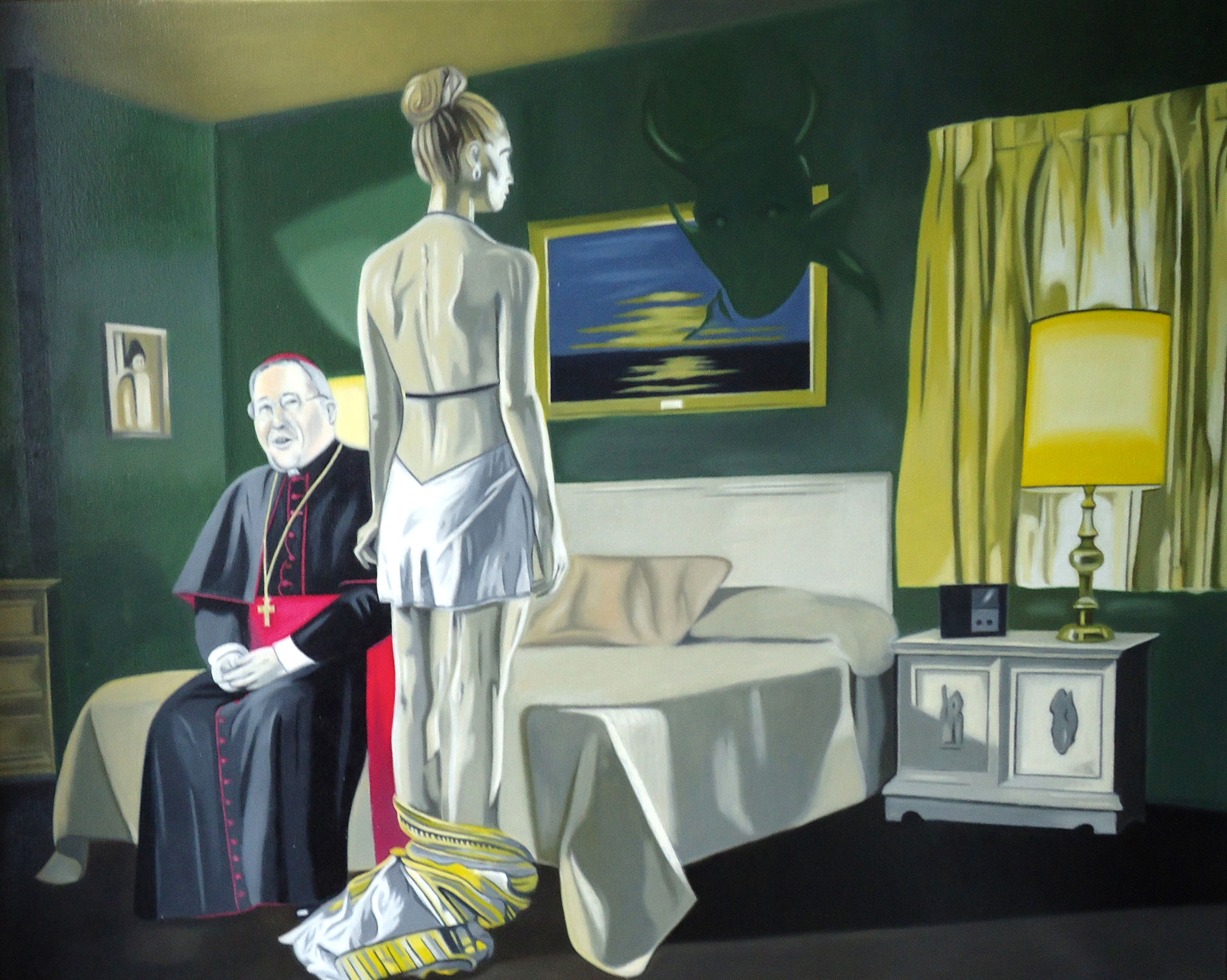 ' Halleluja ' Öl a. LW, 80 x 100 cm, 2018