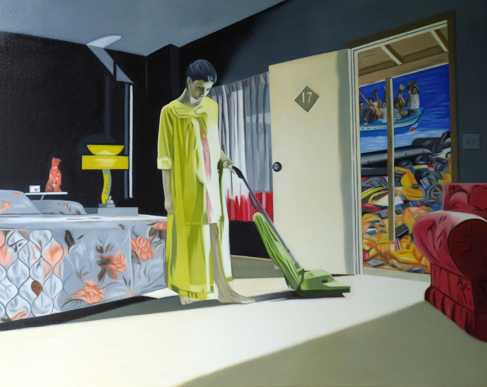 ' Apartment 17 ' Öl a. LW, 80 x 100 cm, 2019