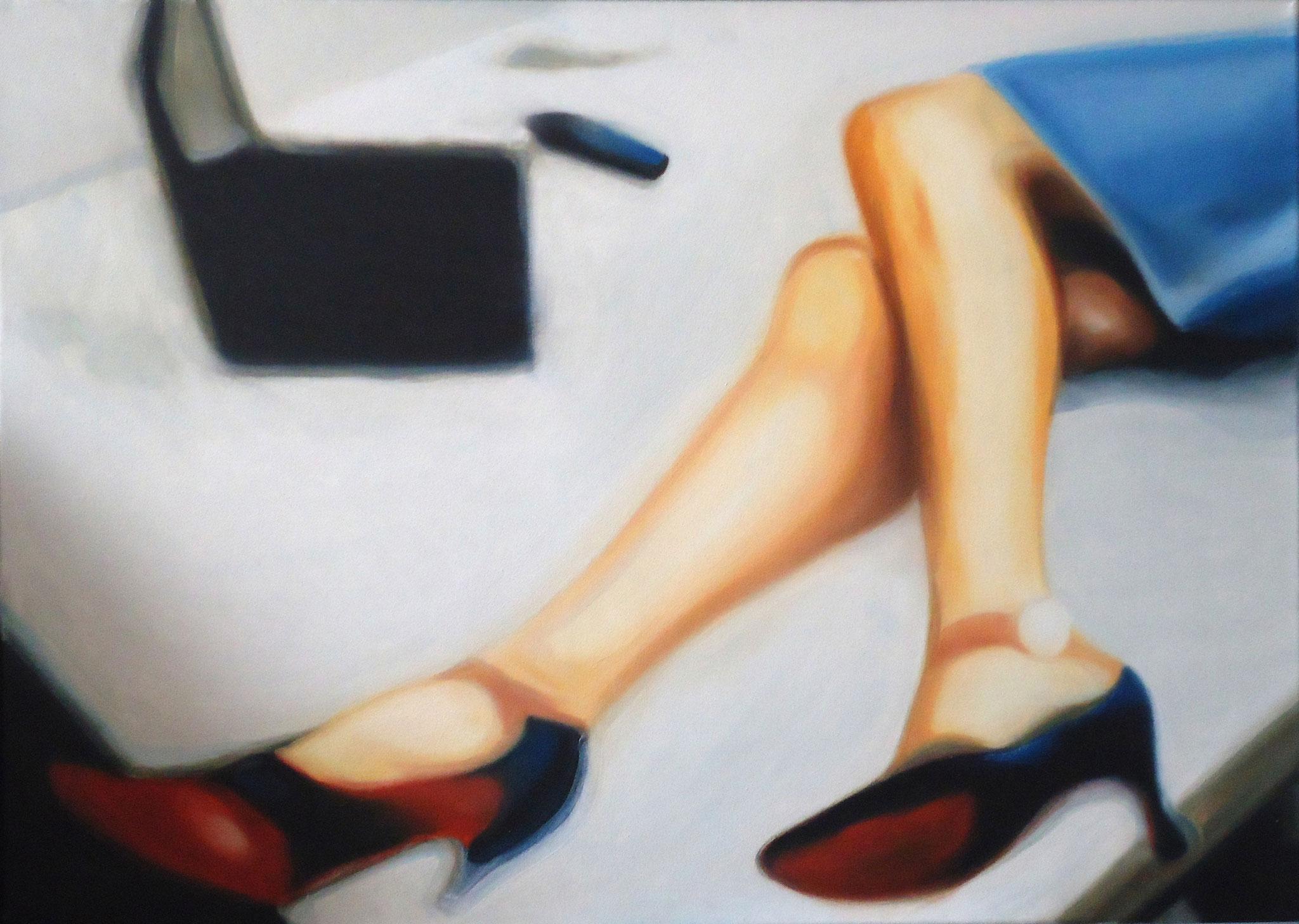 ' Feierabend ' Öl a. LW, 40 x 60 cm, 2004