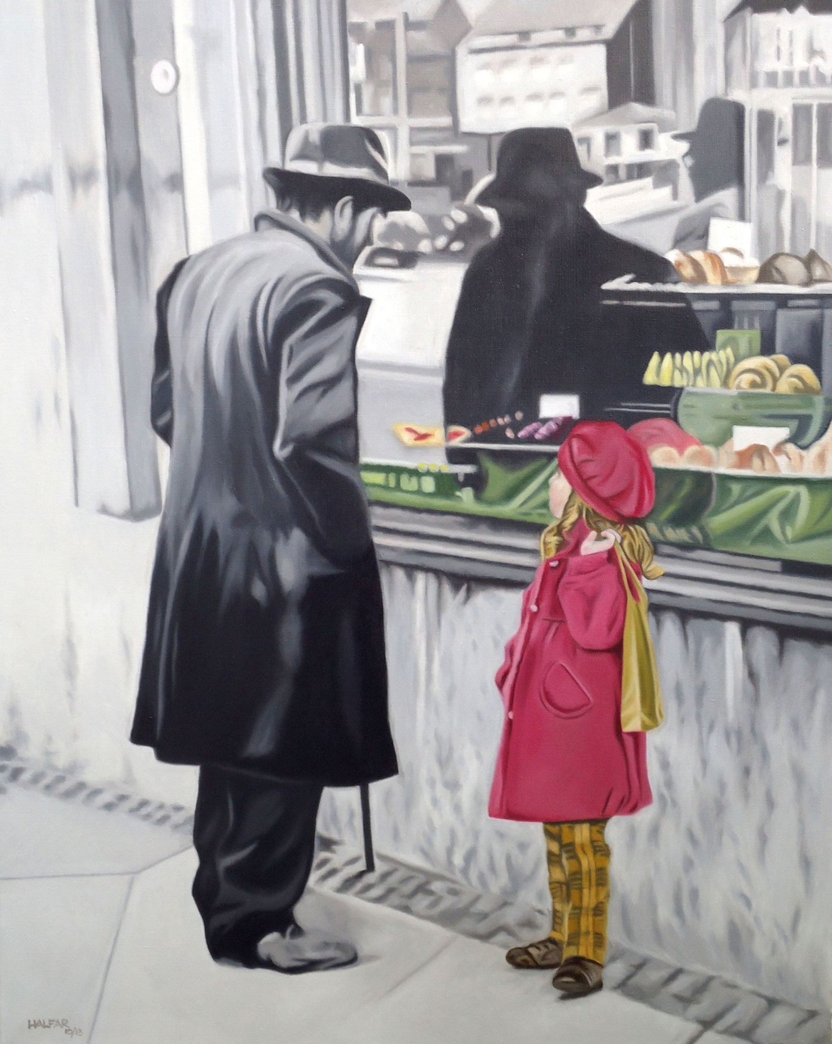 ' Schöne Neue Welt I ' Öl a. LW, 100 x 80 cm, 2014