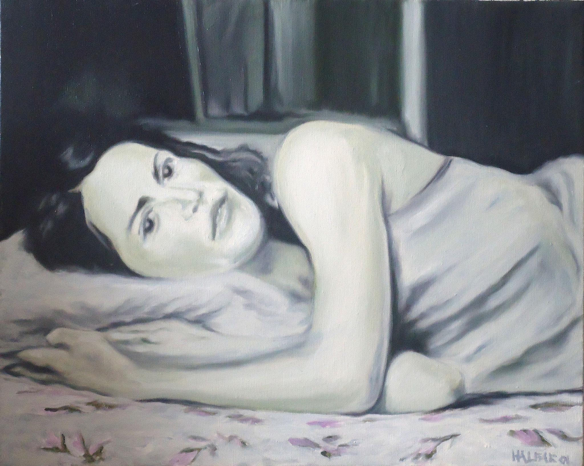 ' Porträt A. ' Öl a. LW, 40 x 50 cm, 2001