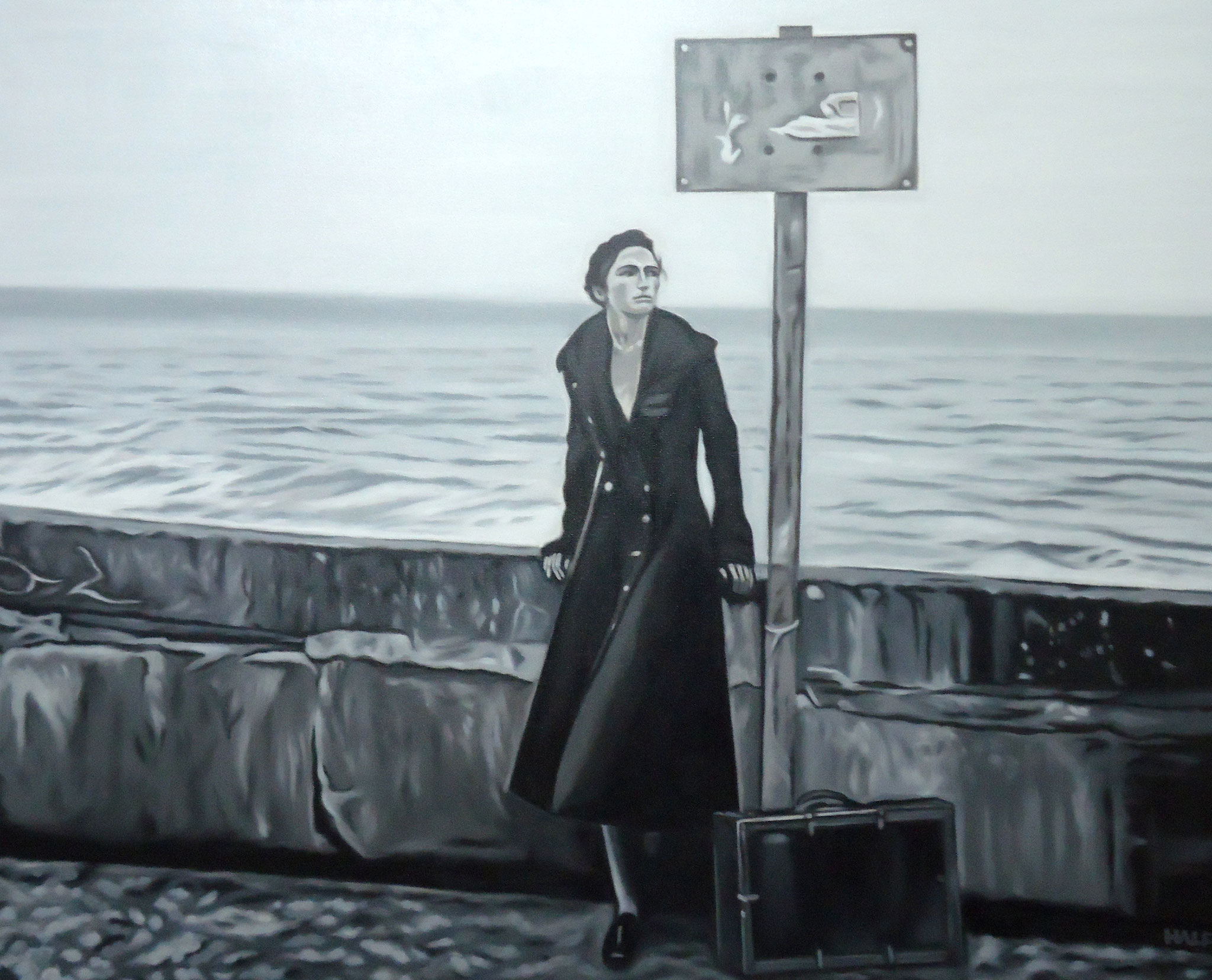 ' Die Frau am Meer ' Öl a. LW, 80 x 100 cm, 2016, verkauft nach Italien