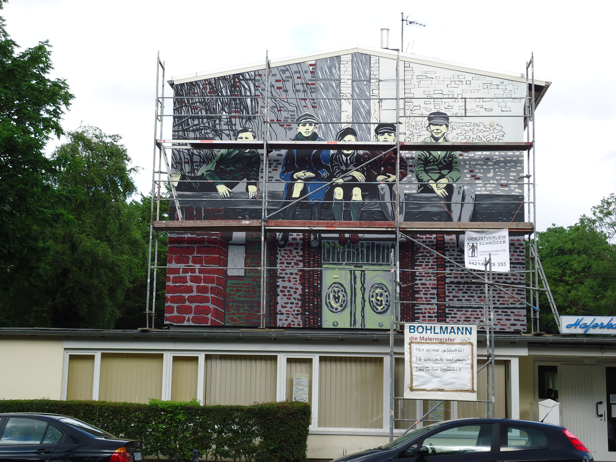 Fassadenmalerei 2012, Begegnungsstätte Haferkamp, Bremen/Walle