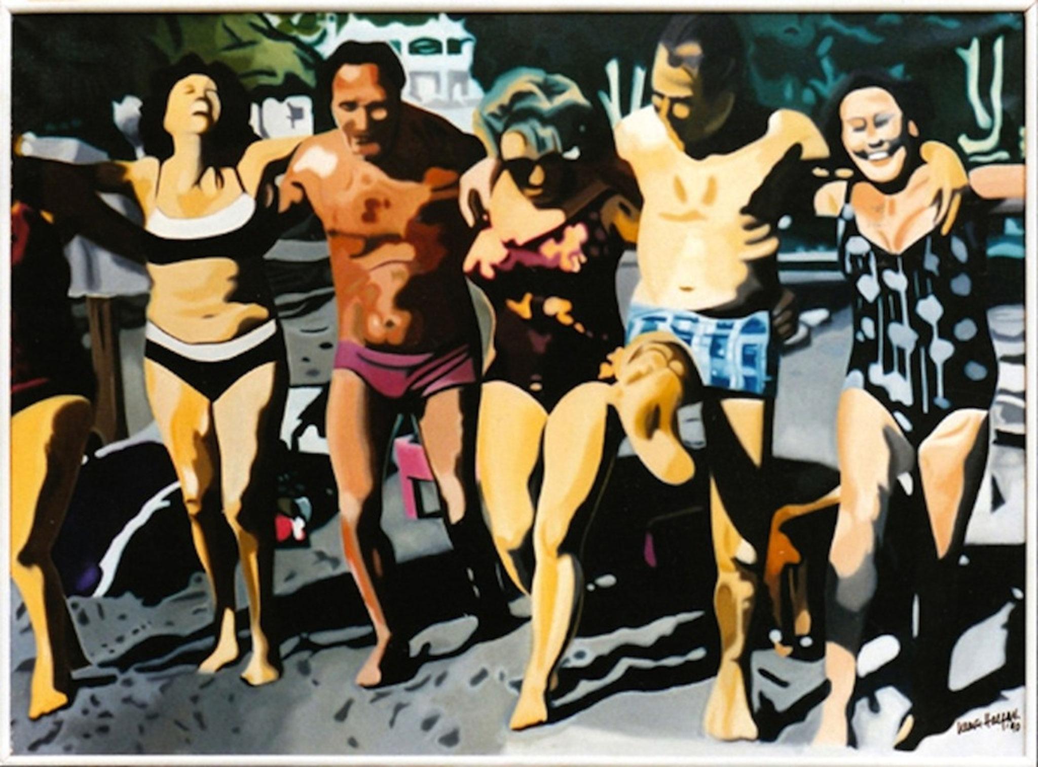 ' Kreta I ' Öl a. LW, 80 x 120 cm, 1992