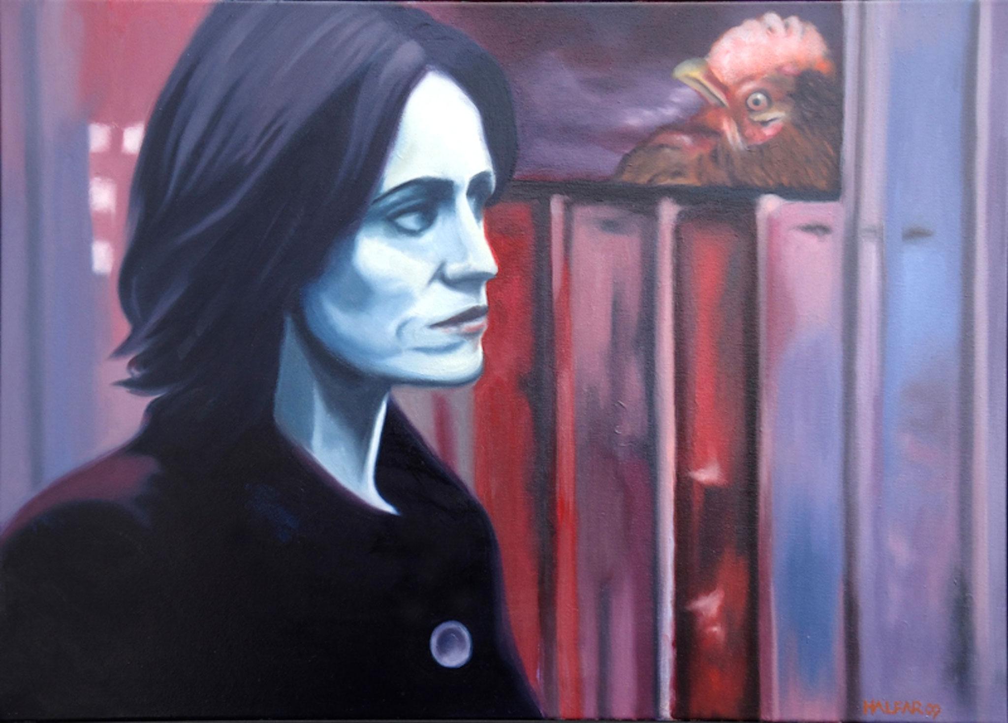 ' Die Witwe ' Öl a. LW, 40 x 50 cm, 2008
