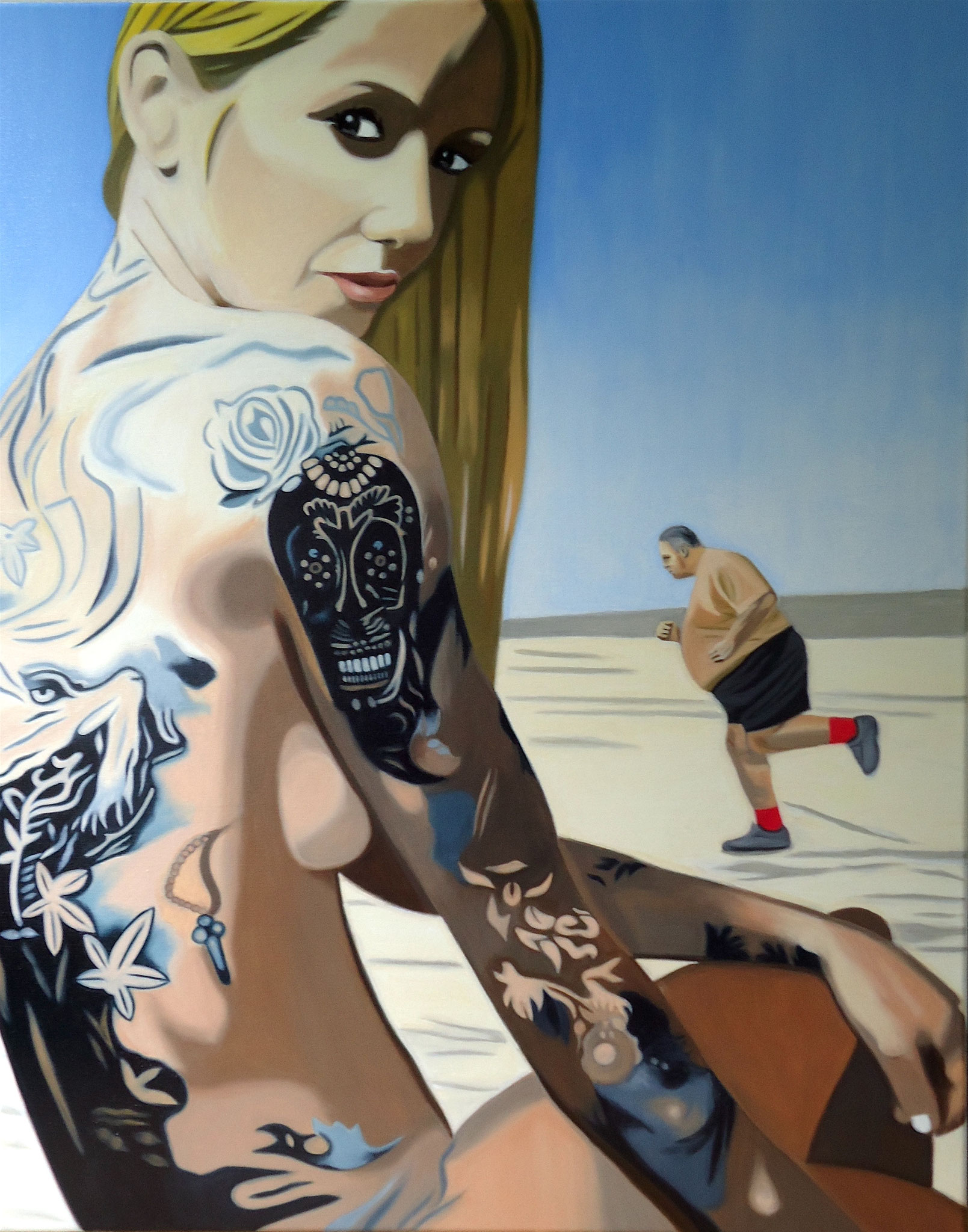' Strandlust ' Öl a. LW, 100 x 80 cm, 2020