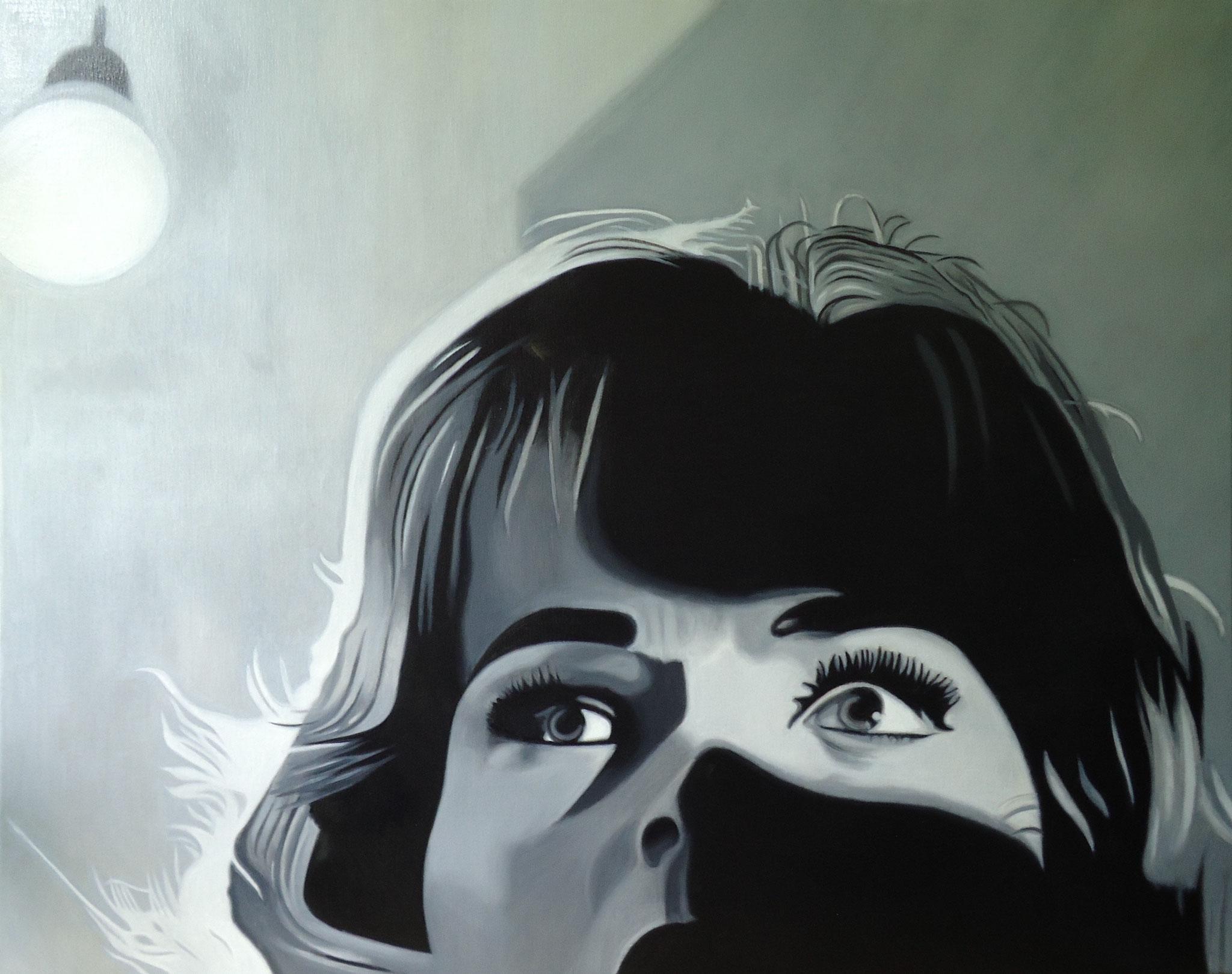 ' Der Schatten am Fenster ' Öl a. LW, 80 x 100 cm, 2021