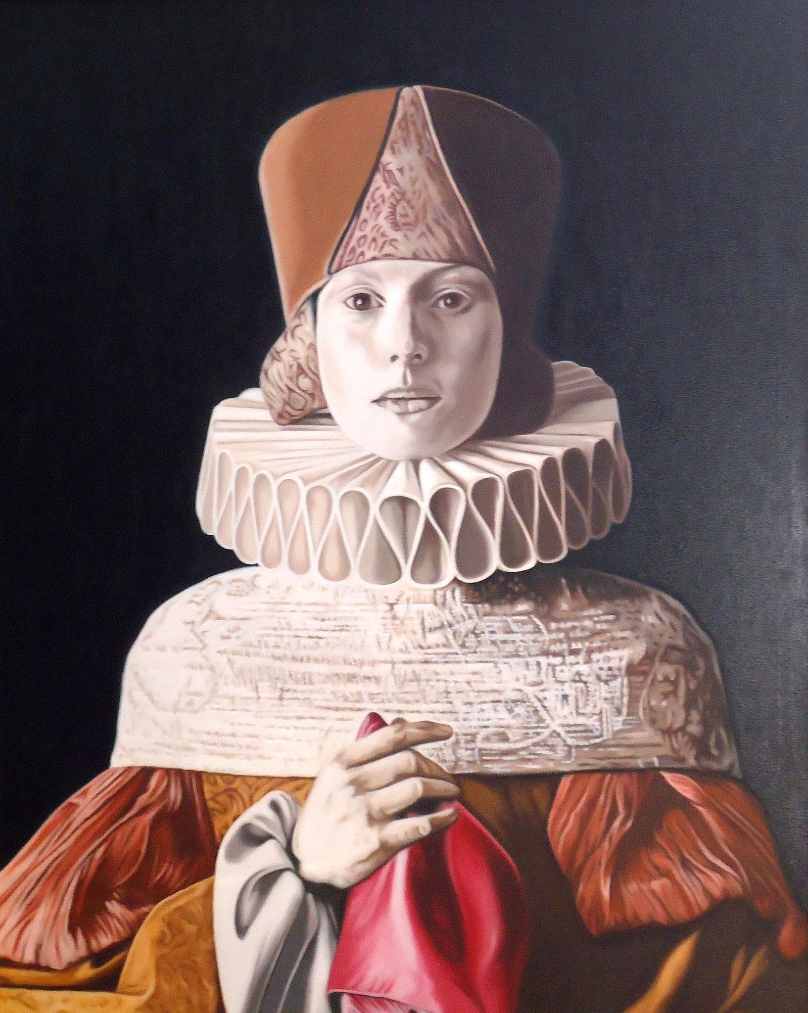 ' Die Päpstin ' Öl a. LW, 100 x 80 cm, 2015